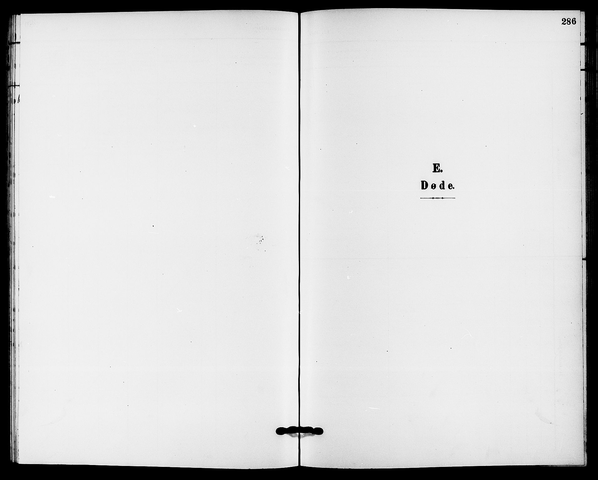 SAKO, Solum kirkebøker, G/Ga/L0008: Klokkerbok nr. I 8, 1898-1909, s. 286