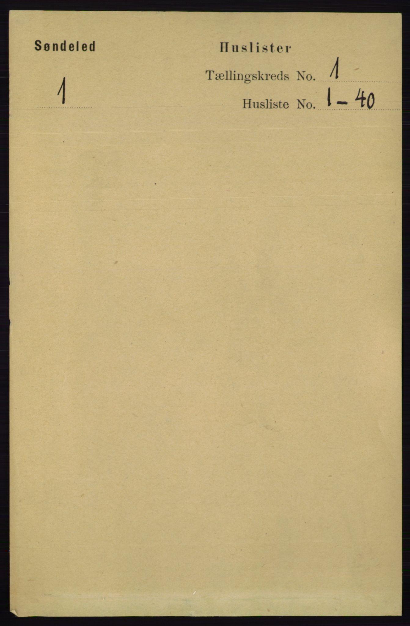 RA, Folketelling 1891 for 0913 Søndeled herred, 1891, s. 38