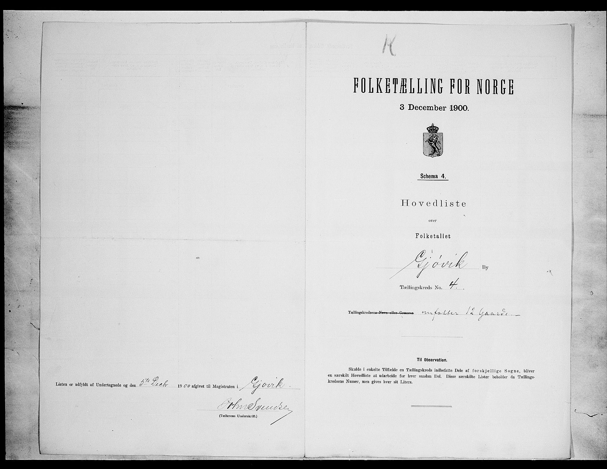 SAH, Folketelling 1900 for 0502 Gjøvik kjøpstad, 1900, s. 21