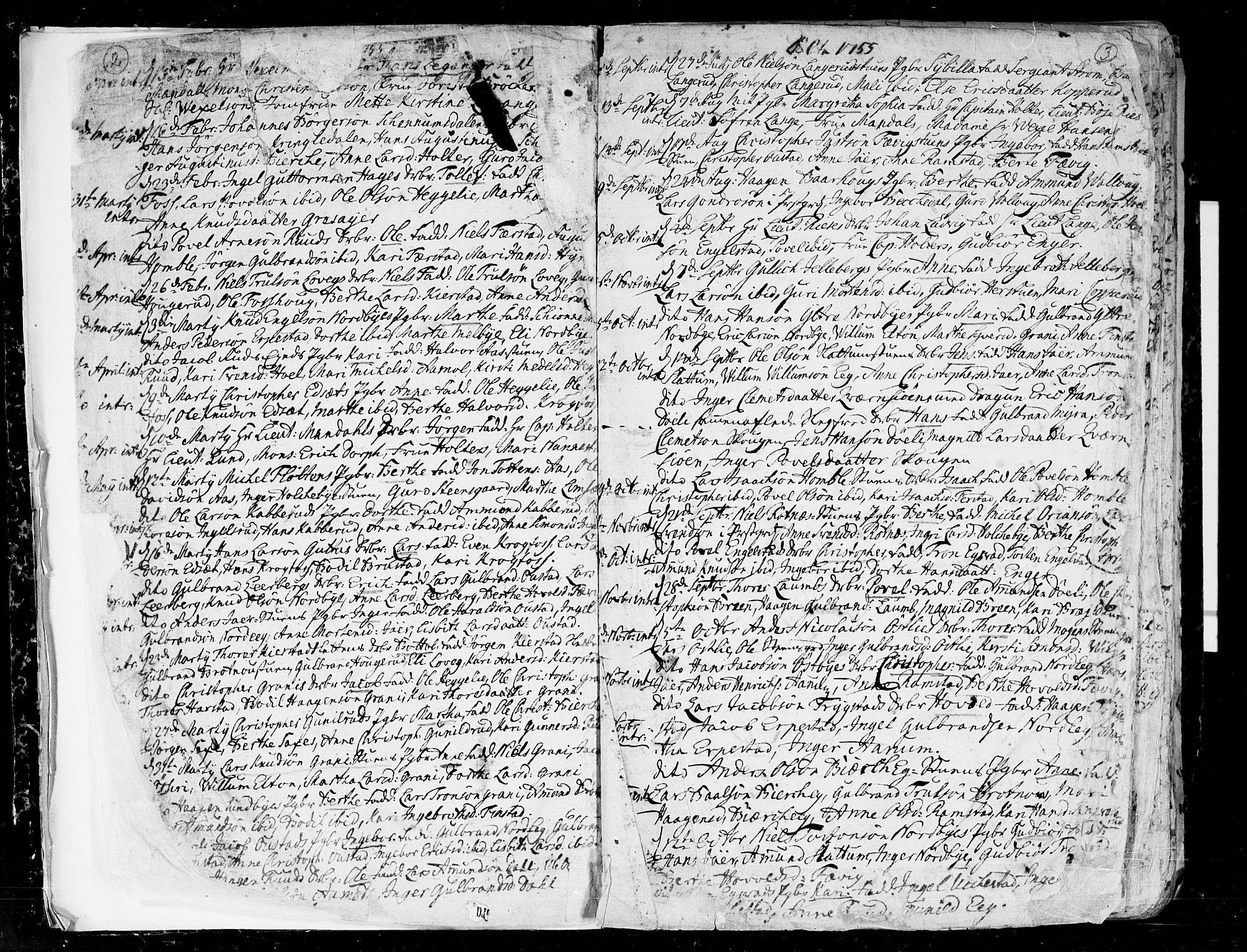 SAO, Nannestad prestekontor Kirkebøker, F/Fa/L0007: Ministerialbok nr. I 7, 1754-1791, s. 2-3