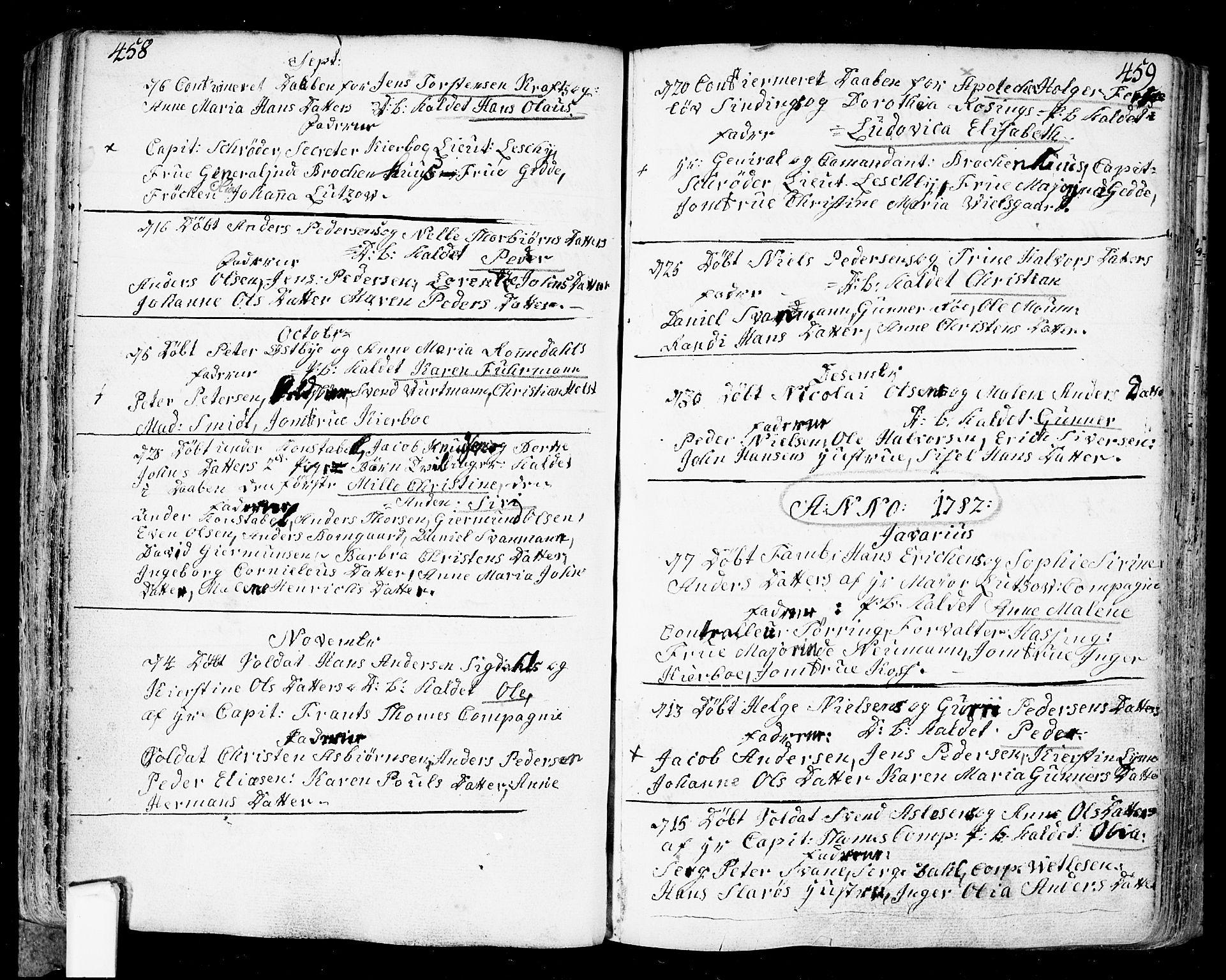 SAO, Fredrikstad prestekontor Kirkebøker, F/Fa/L0002: Ministerialbok nr. 2, 1750-1804, s. 458-459