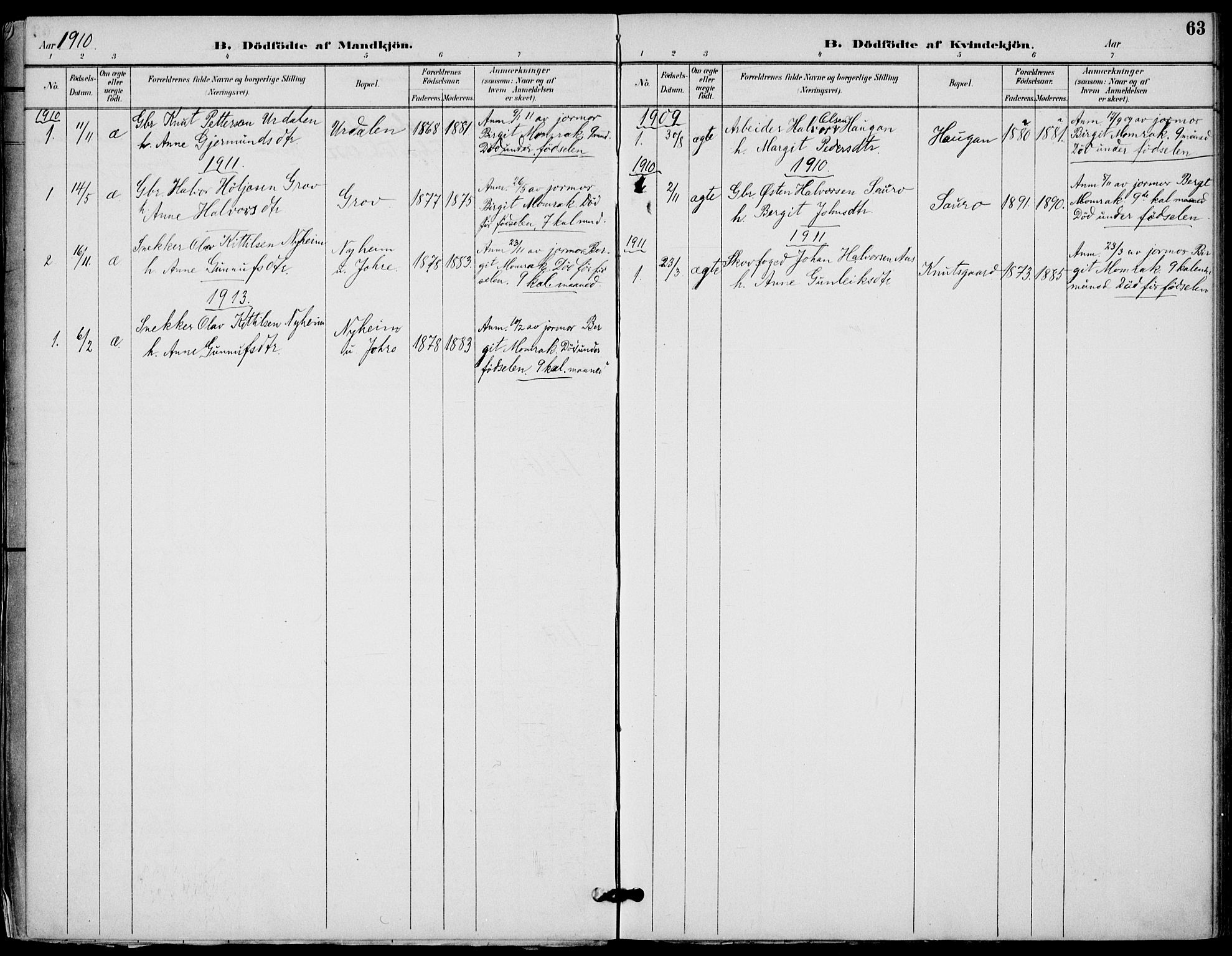 SAKO, Gransherad kirkebøker, F/Fb/L0005: Ministerialbok nr. II 5, 1887-1916, s. 63