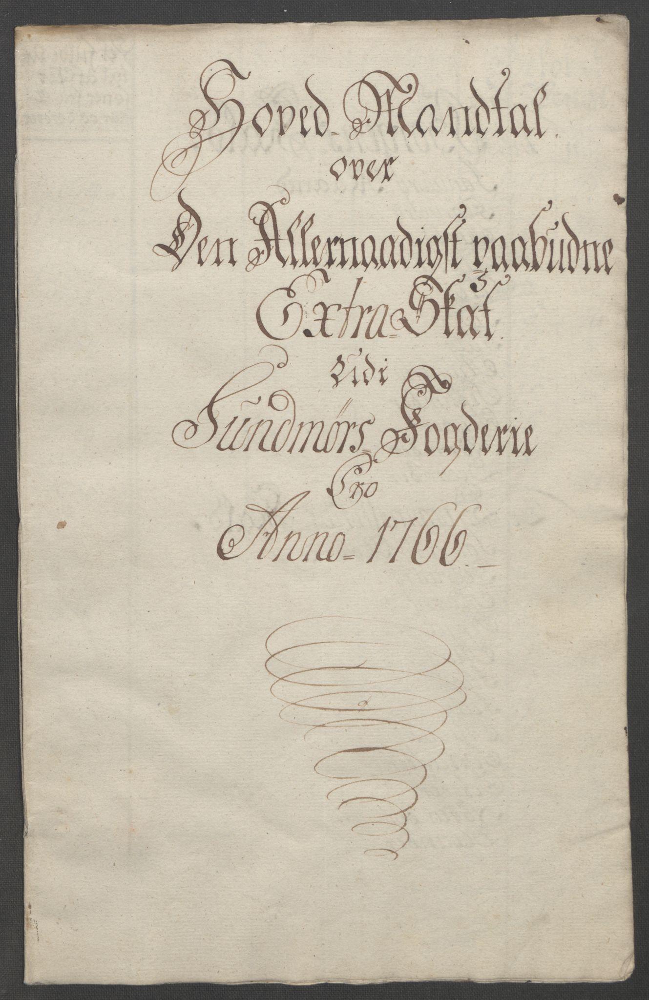 RA, Rentekammeret inntil 1814, Reviderte regnskaper, Fogderegnskap, R54/L3645: Ekstraskatten Sunnmøre, 1762-1772, s. 86