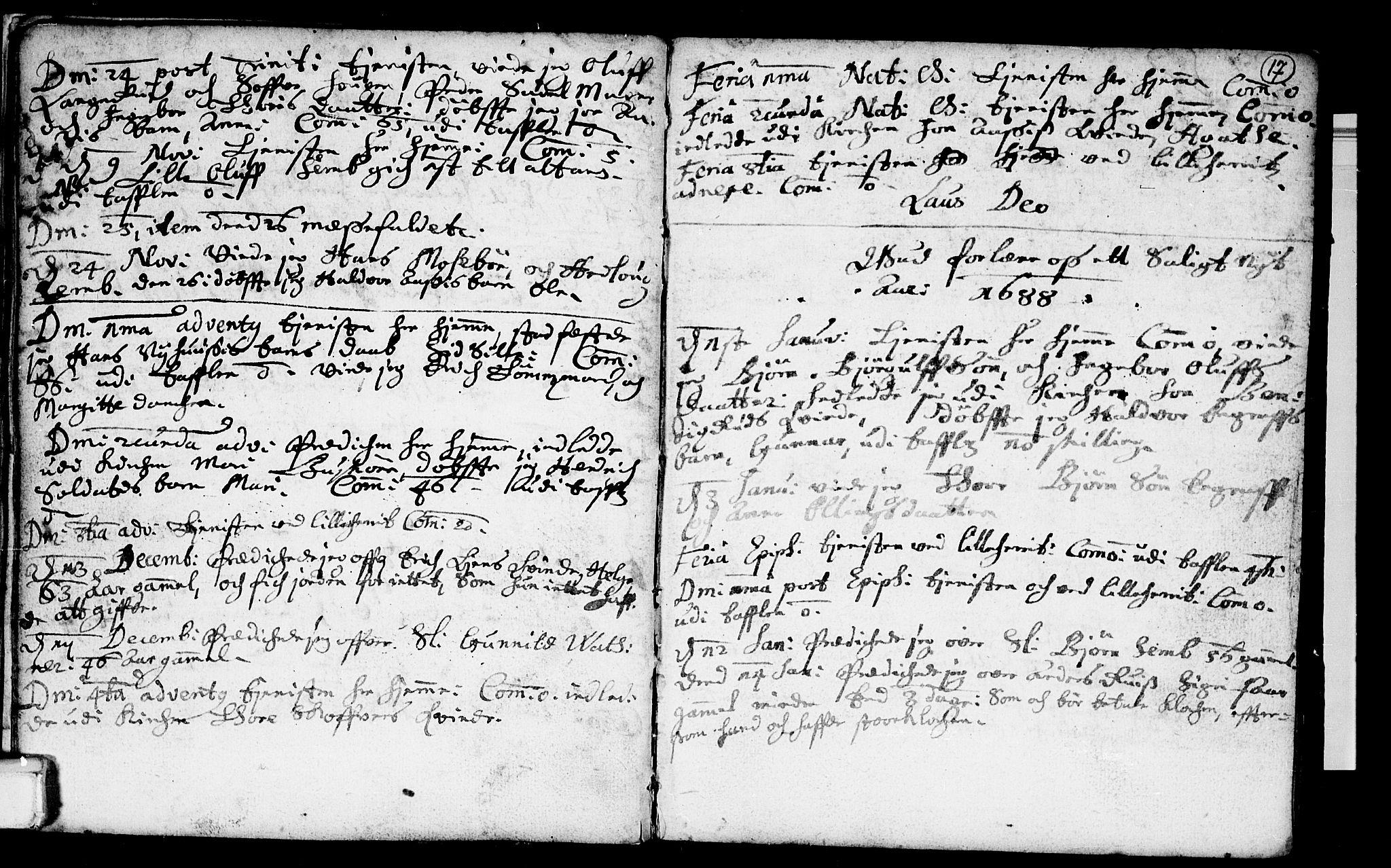 SAKO, Heddal kirkebøker, F/Fa/L0001: Ministerialbok nr. I 1, 1648-1699, s. 17