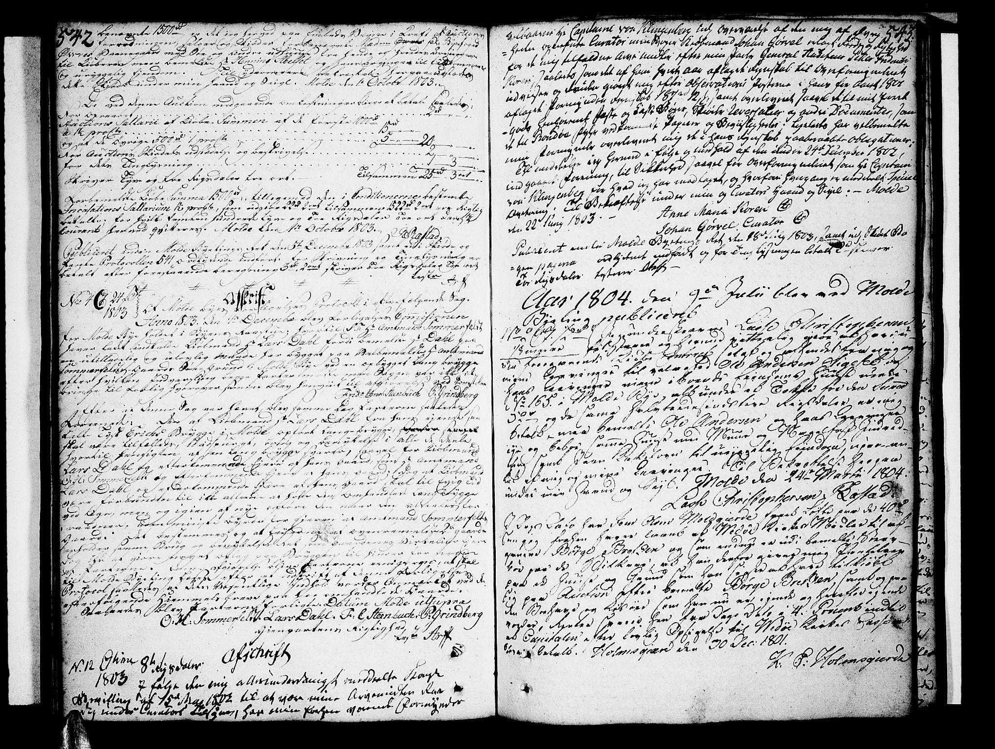 SAT, Molde byfogd, 2/2C/L0001: Pantebok nr. 1, 1748-1823, s. 542-543