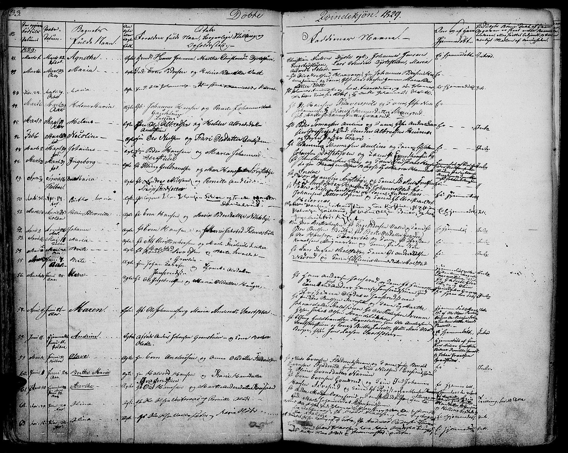 SAH, Vestre Toten prestekontor, H/Ha/Haa/L0002: Ministerialbok nr. 2, 1825-1837, s. 33