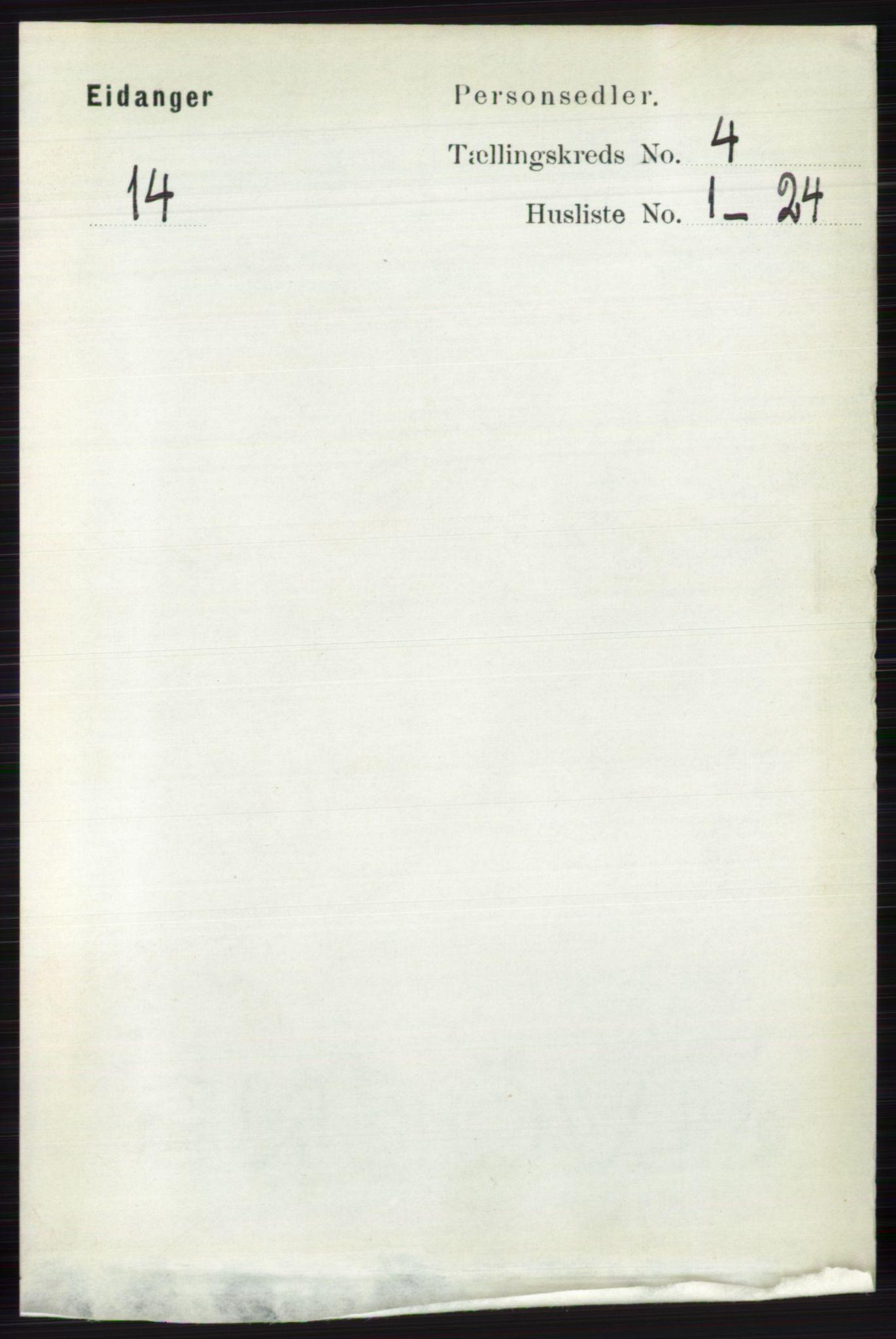 RA, Folketelling 1891 for 0813 Eidanger herred, 1891, s. 1940