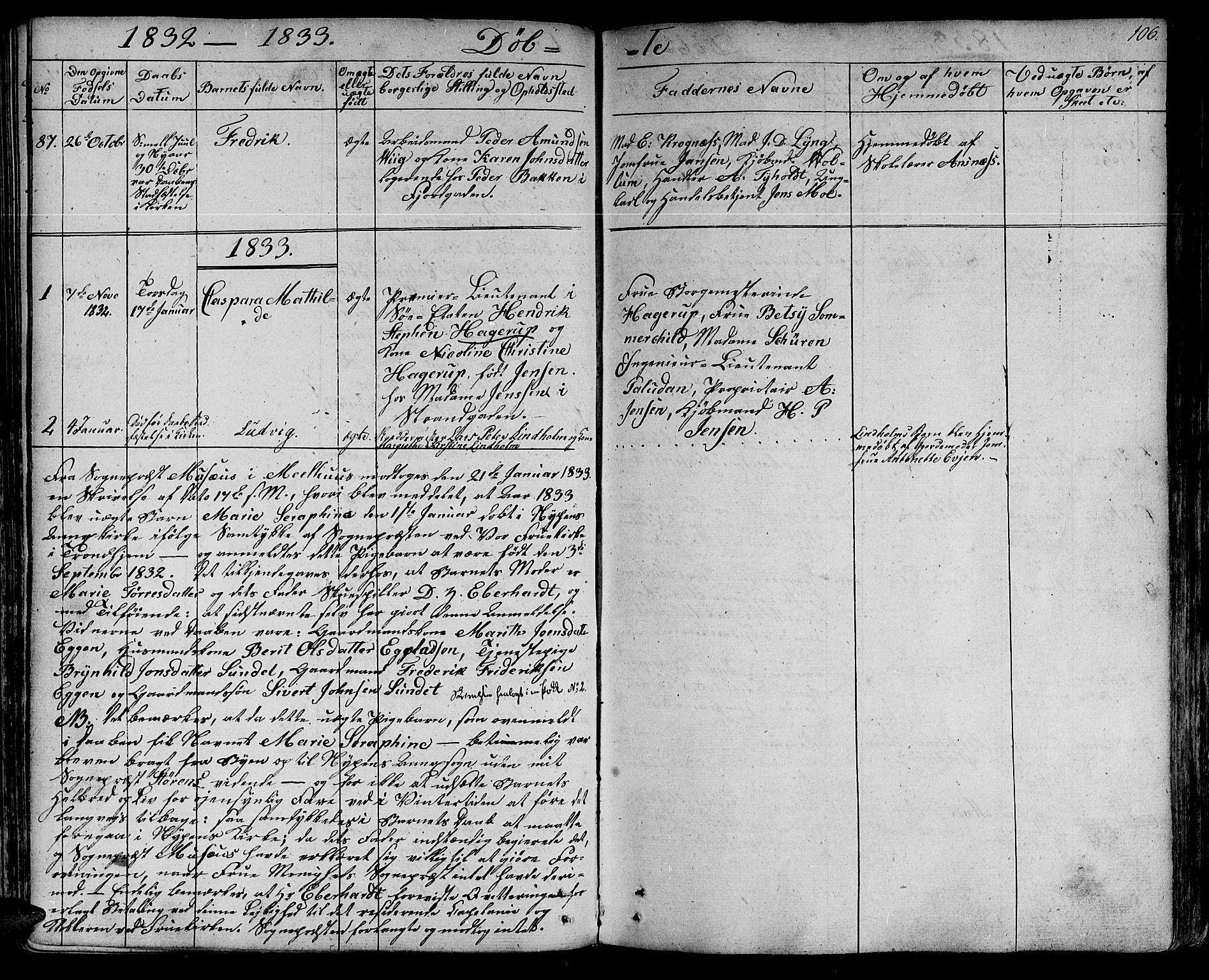 SAT, Ministerialprotokoller, klokkerbøker og fødselsregistre - Sør-Trøndelag, 602/L0108: Ministerialbok nr. 602A06, 1821-1839, s. 106