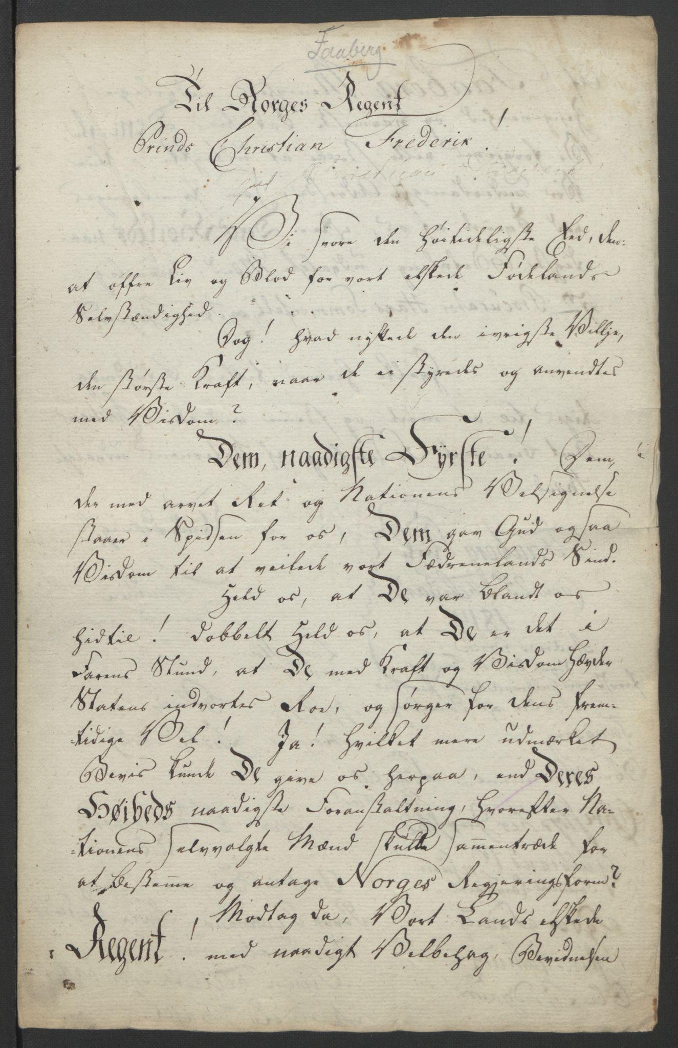 RA, Statsrådssekretariatet, D/Db/L0007: Fullmakter for Eidsvollsrepresentantene i 1814. , 1814, s. 254