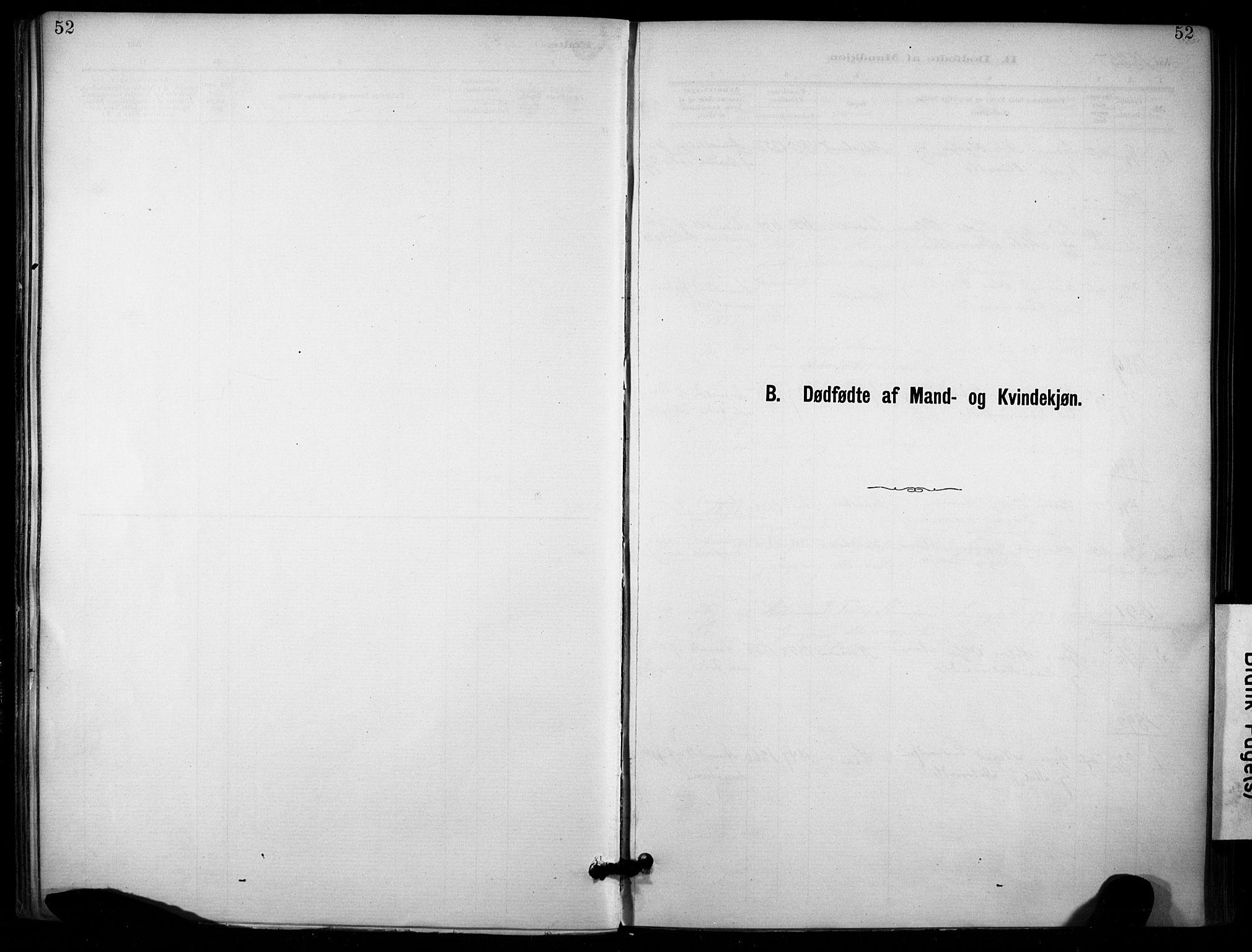 SAKO, Lunde kirkebøker, F/Fa/L0002: Ministerialbok nr. I 2, 1884-1892, s. 52