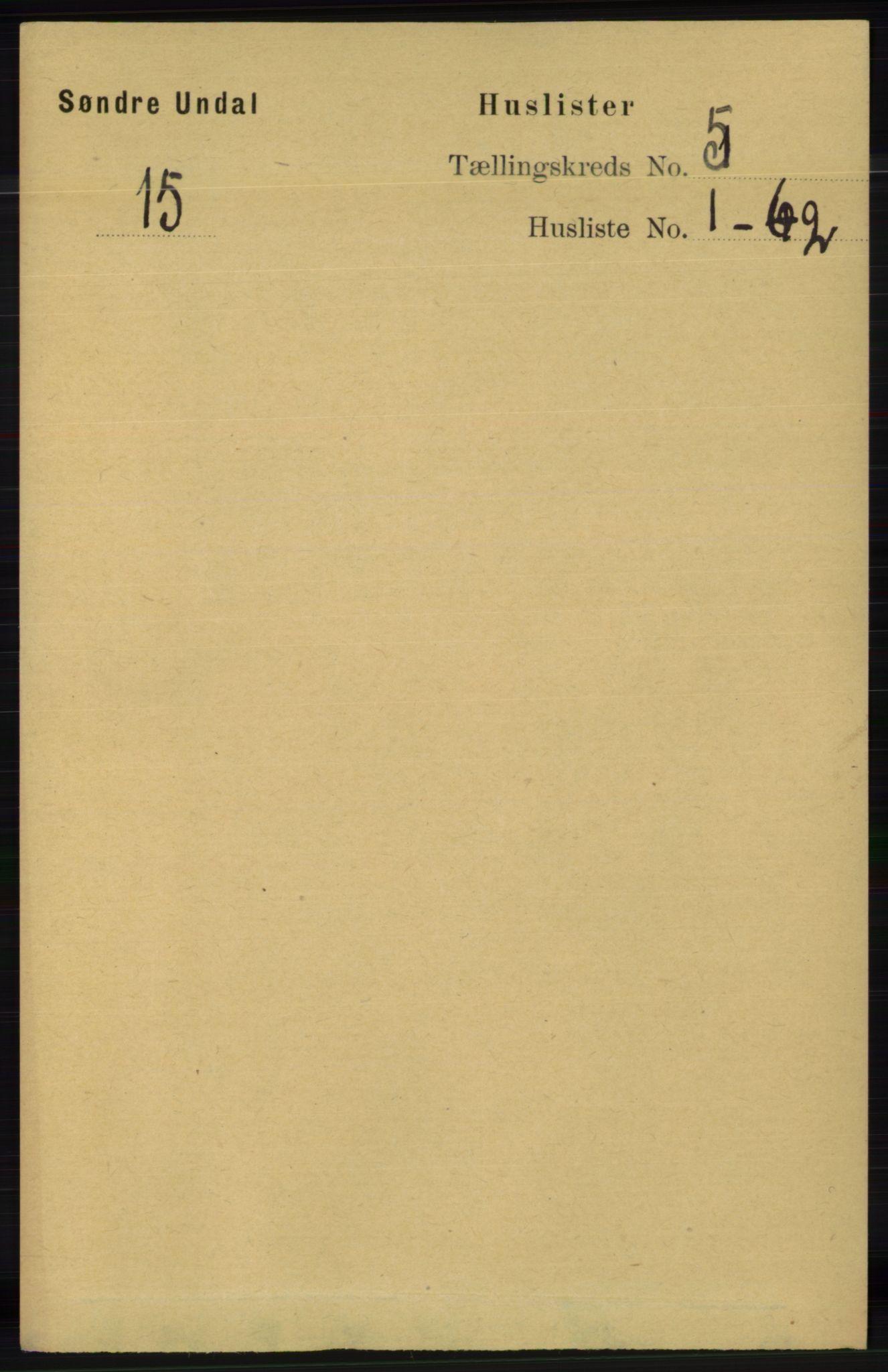 RA, Folketelling 1891 for 1029 Sør-Audnedal herred, 1891, s. 1828