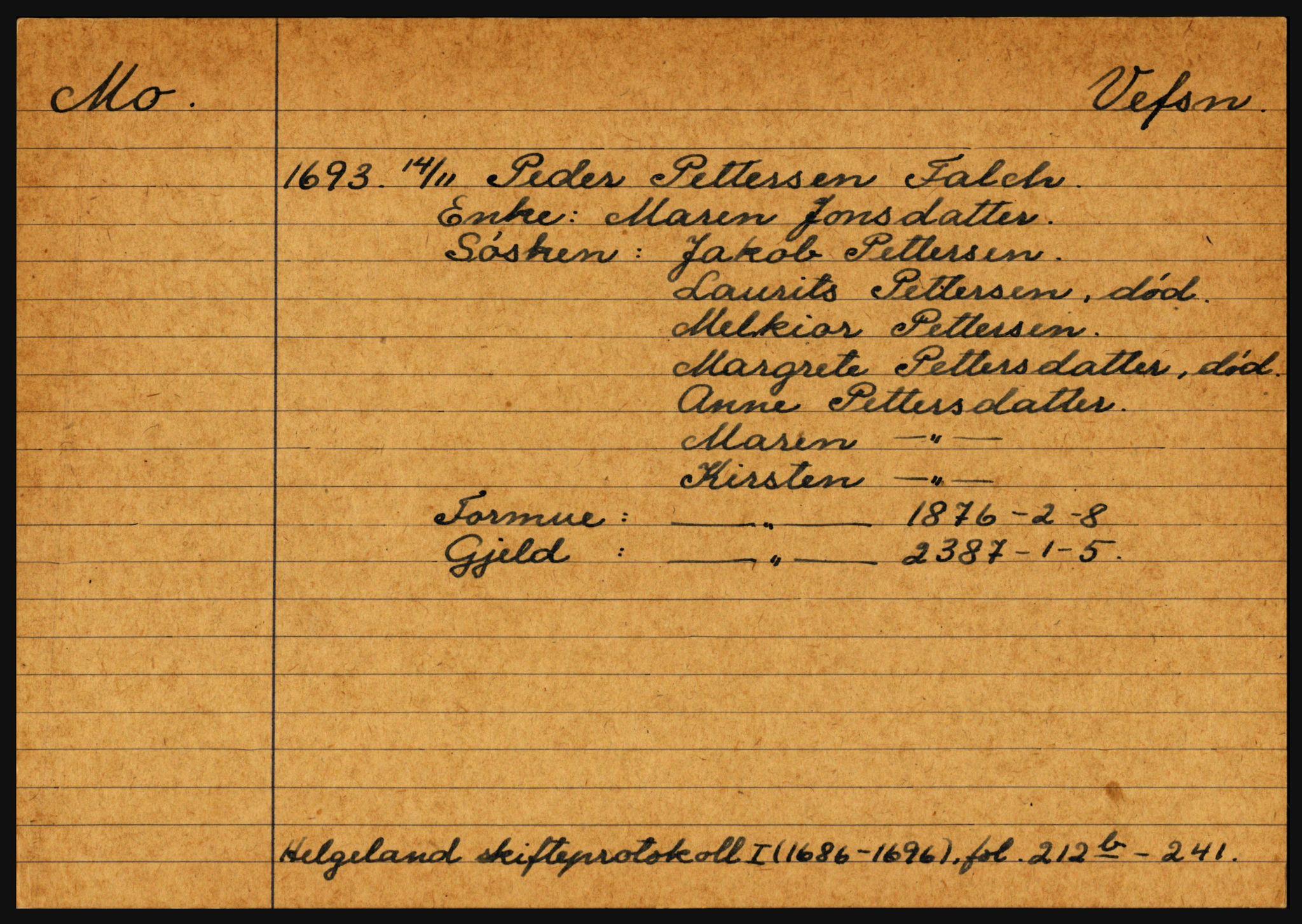 SAT, Helgeland sorenskriveri, 3, 1686-1746, s. 2309