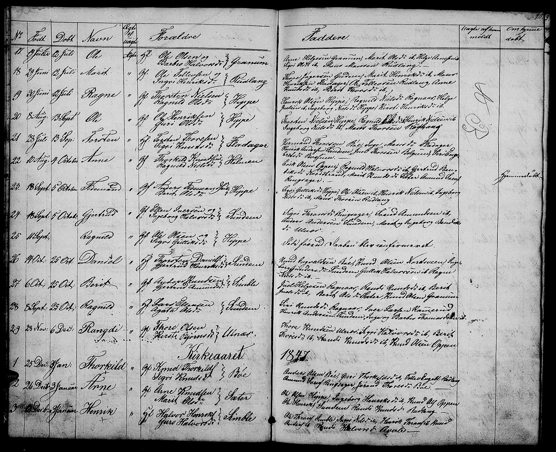SAH, Nord-Aurdal prestekontor, Klokkerbok nr. 4, 1842-1882, s. 10