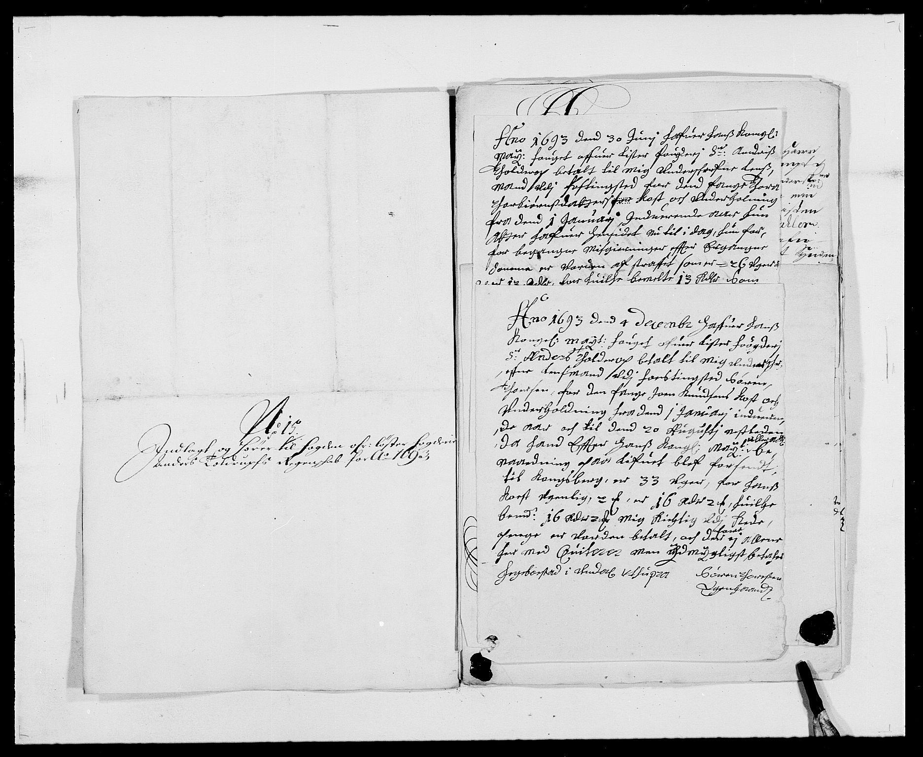 RA, Rentekammeret inntil 1814, Reviderte regnskaper, Fogderegnskap, R41/L2536: Fogderegnskap Lista, 1690-1693, s. 497