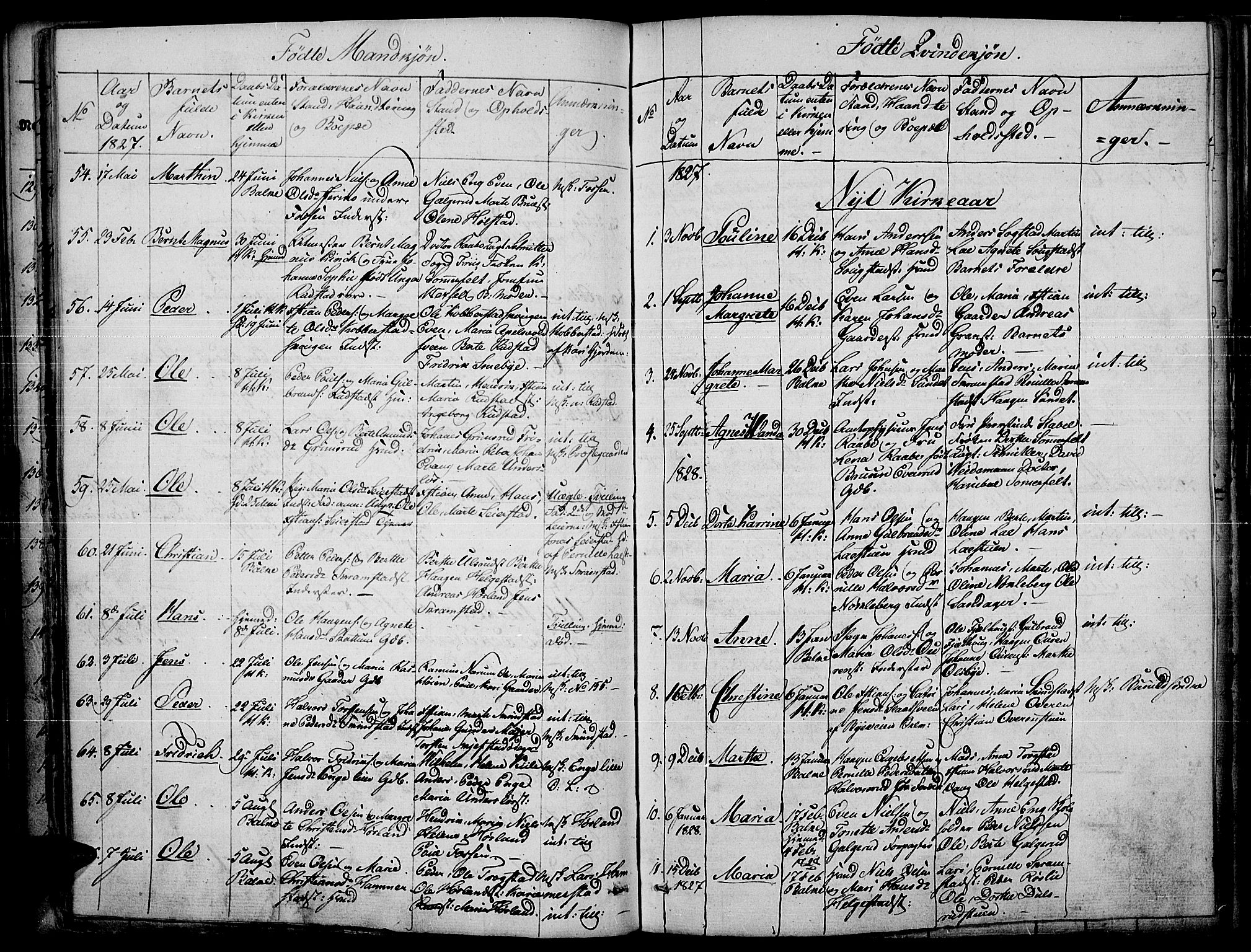 SAH, Toten prestekontor, Ministerialbok nr. 10, 1820-1828