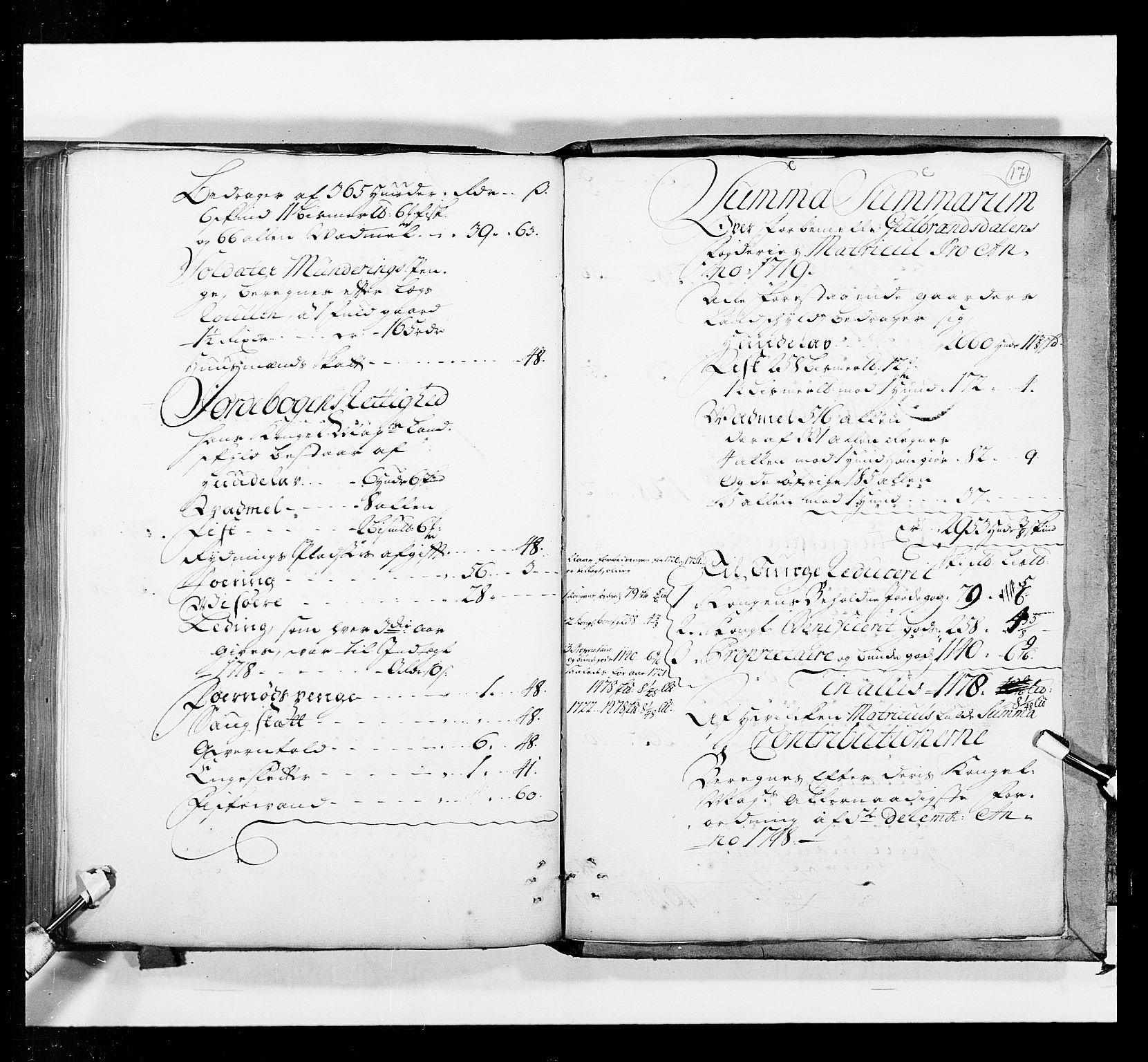 RA, Stattholderembetet 1572-1771, Ek/L0036: Jordebøker 1662-1720:, 1719, s. 170b-171a