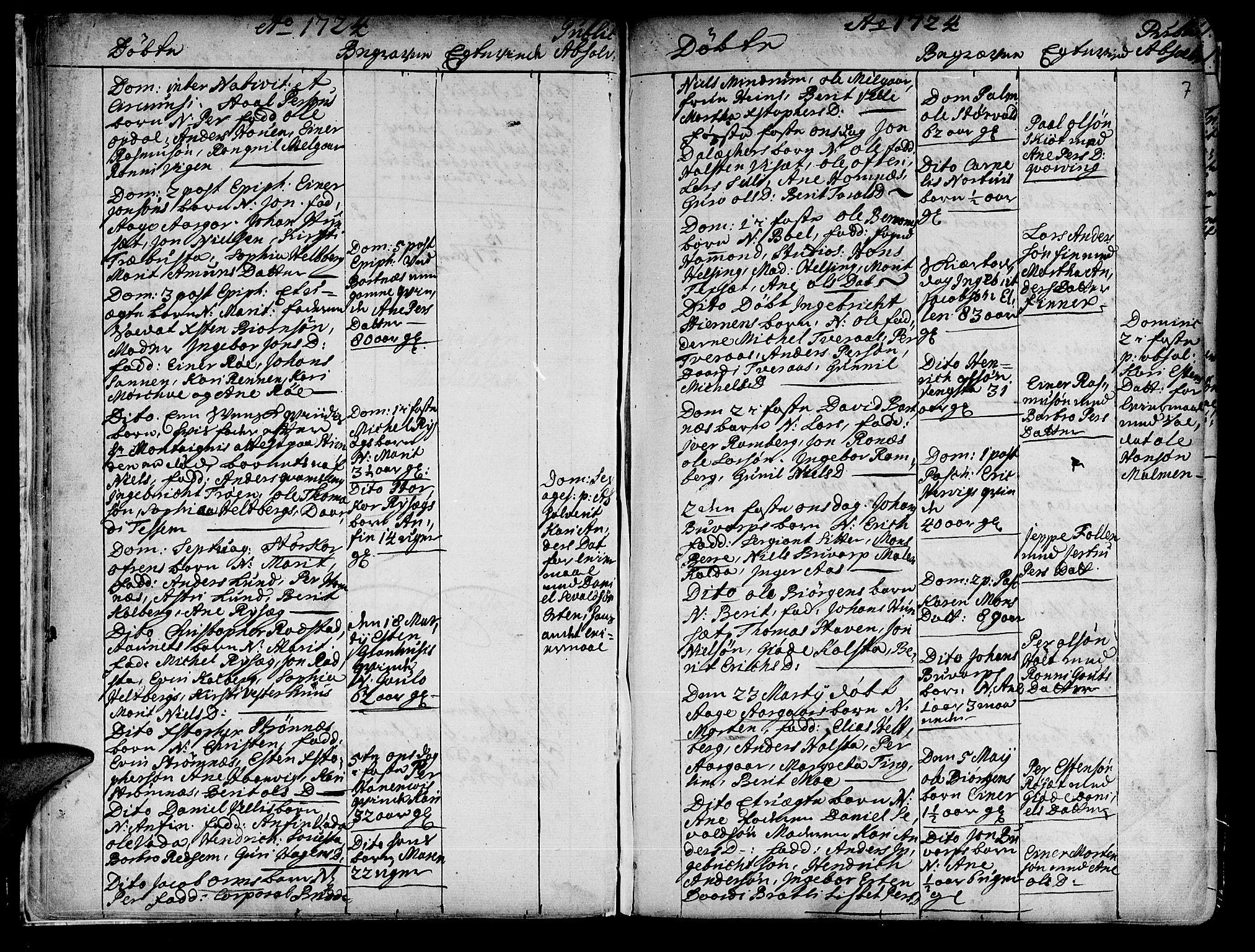 SAT, Ministerialprotokoller, klokkerbøker og fødselsregistre - Nord-Trøndelag, 741/L0385: Ministerialbok nr. 741A01, 1722-1815, s. 7