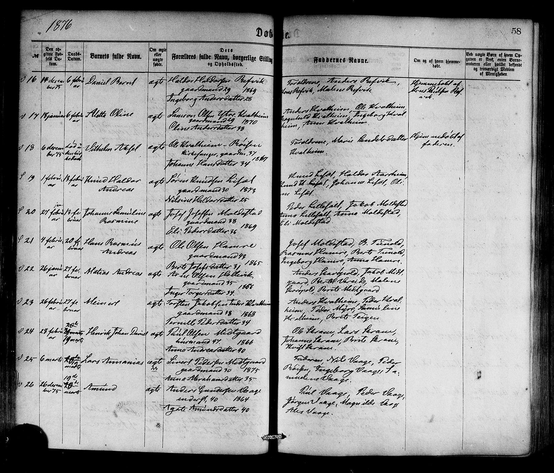 SAB, Selje sokneprestembete*, Ministerialbok nr. A 12, 1870-1880, s. 58