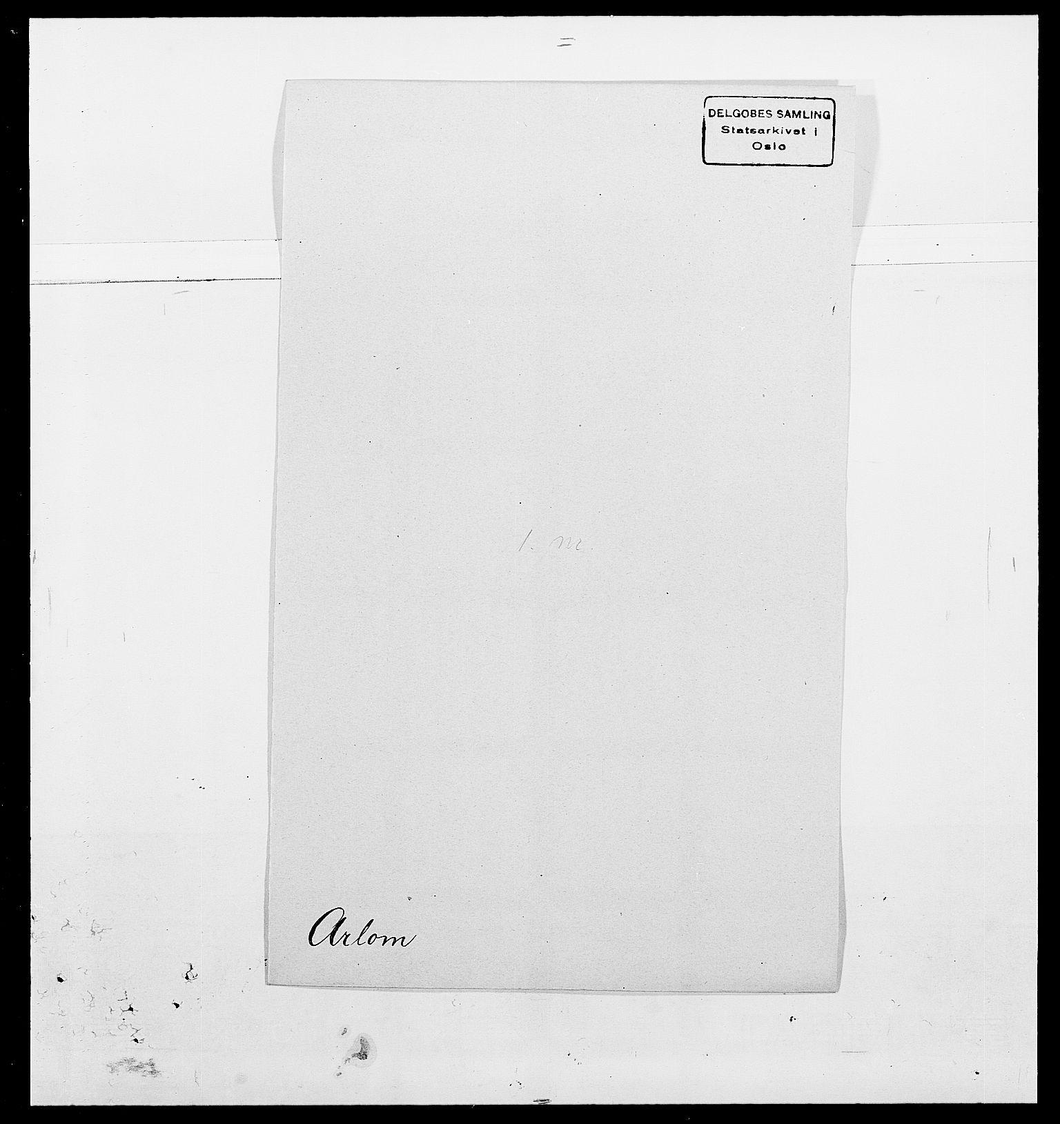 SAO, Delgobe, Charles Antoine - samling, D/Da/L0002: Anker, Ancher - Bauner, s. 306