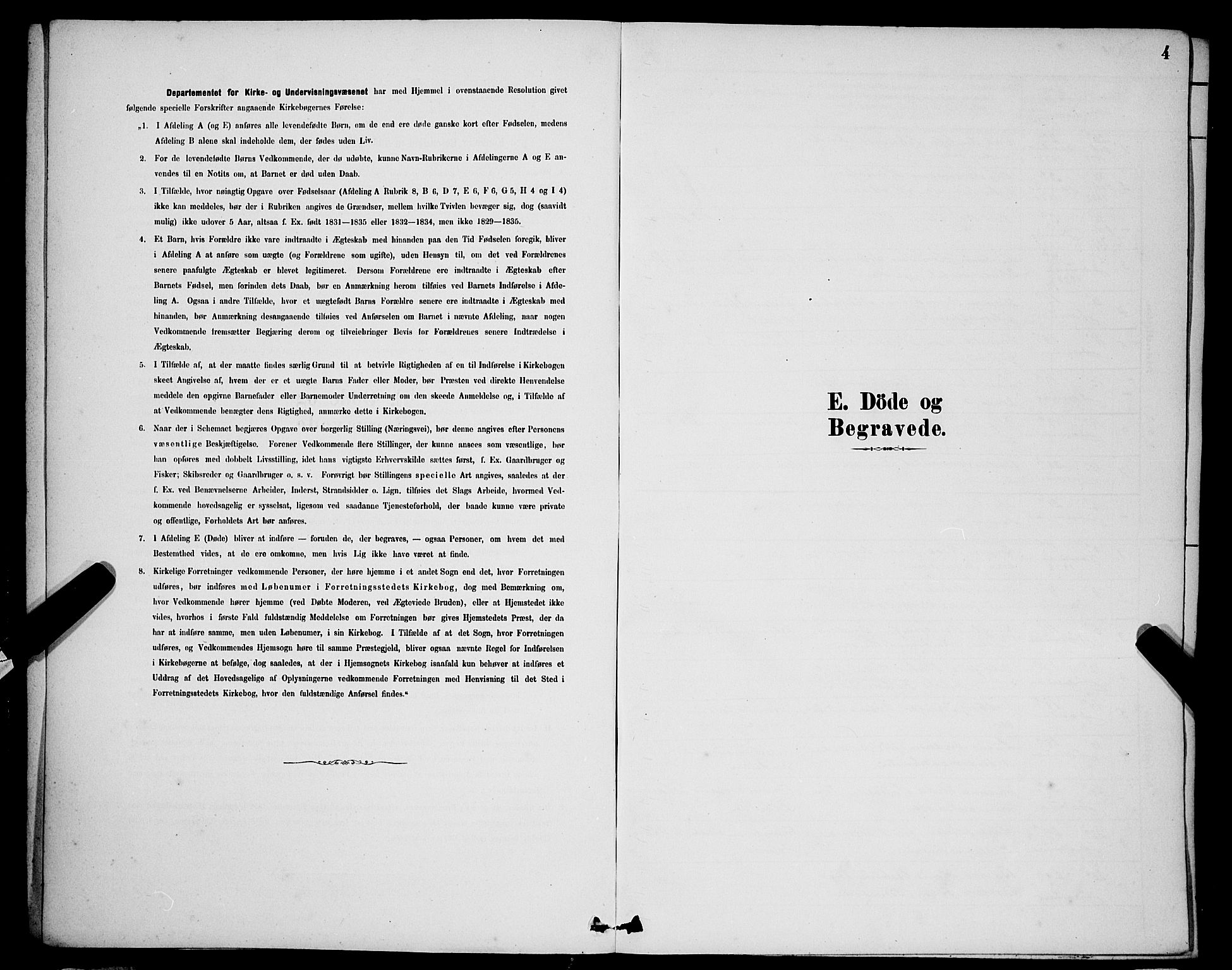 SAB, Domkirken Sokneprestembete, H/Hab/L0041: Klokkerbok nr. E 5, 1878-1900, s. 4