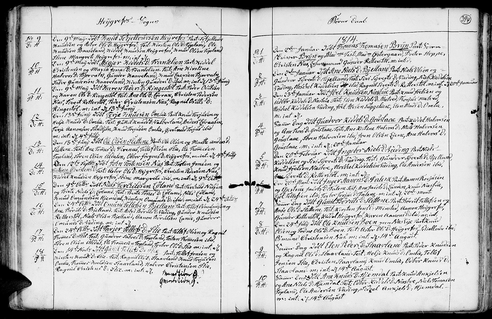 SAK, Hommedal sokneprestkontor, F/Fa/Fab/L0002: Ministerialbok nr. A 2 /3, 1740-1821, s. 394