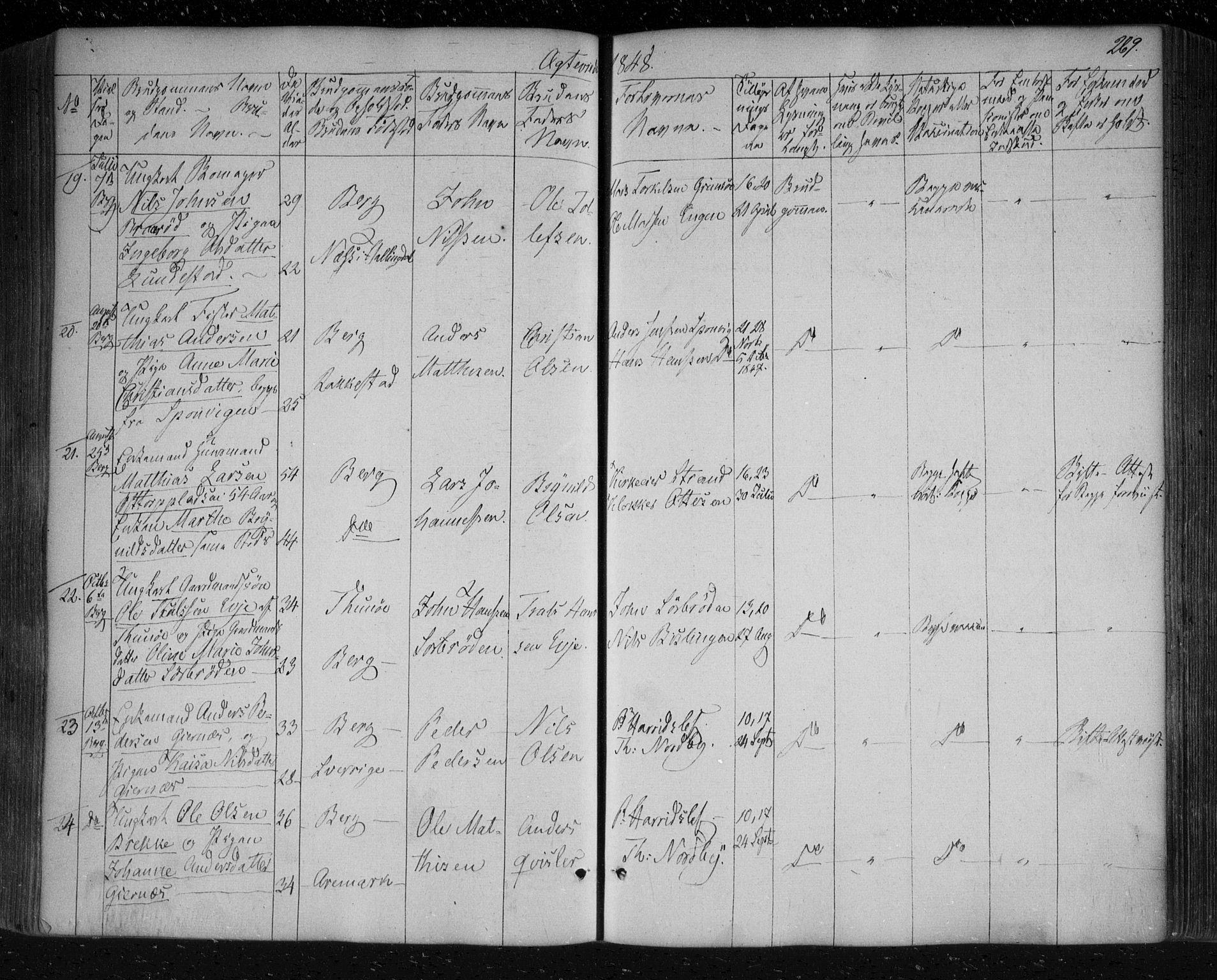SAO, Berg prestekontor Kirkebøker, F/Fa/L0004: Ministerialbok nr. I 4, 1843-1860, s. 269