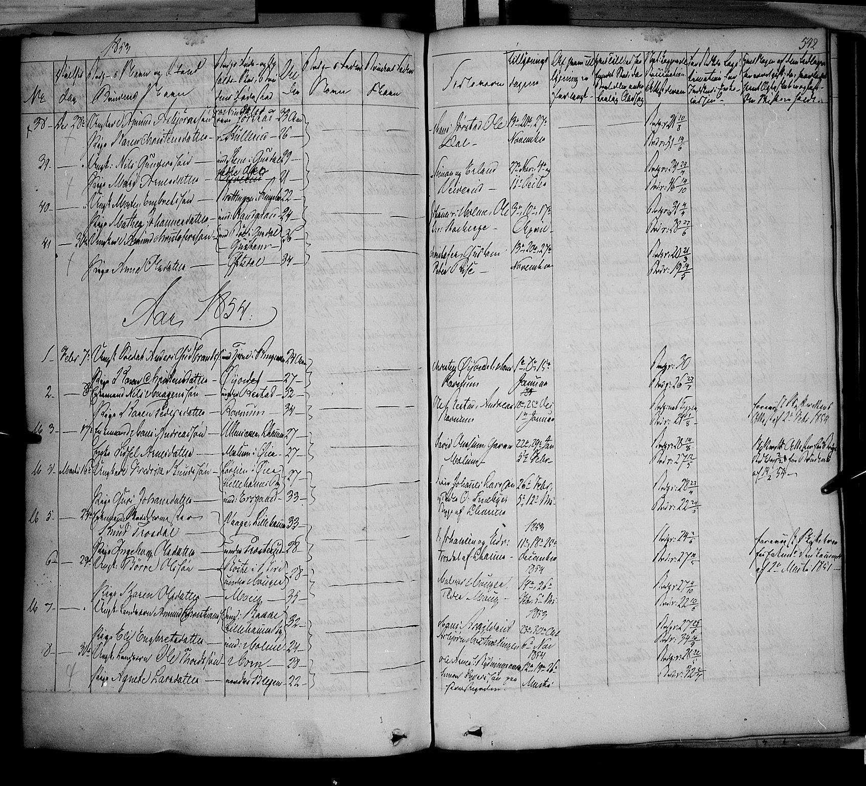 SAH, Fåberg prestekontor, Ministerialbok nr. 5, 1836-1854, s. 541-542