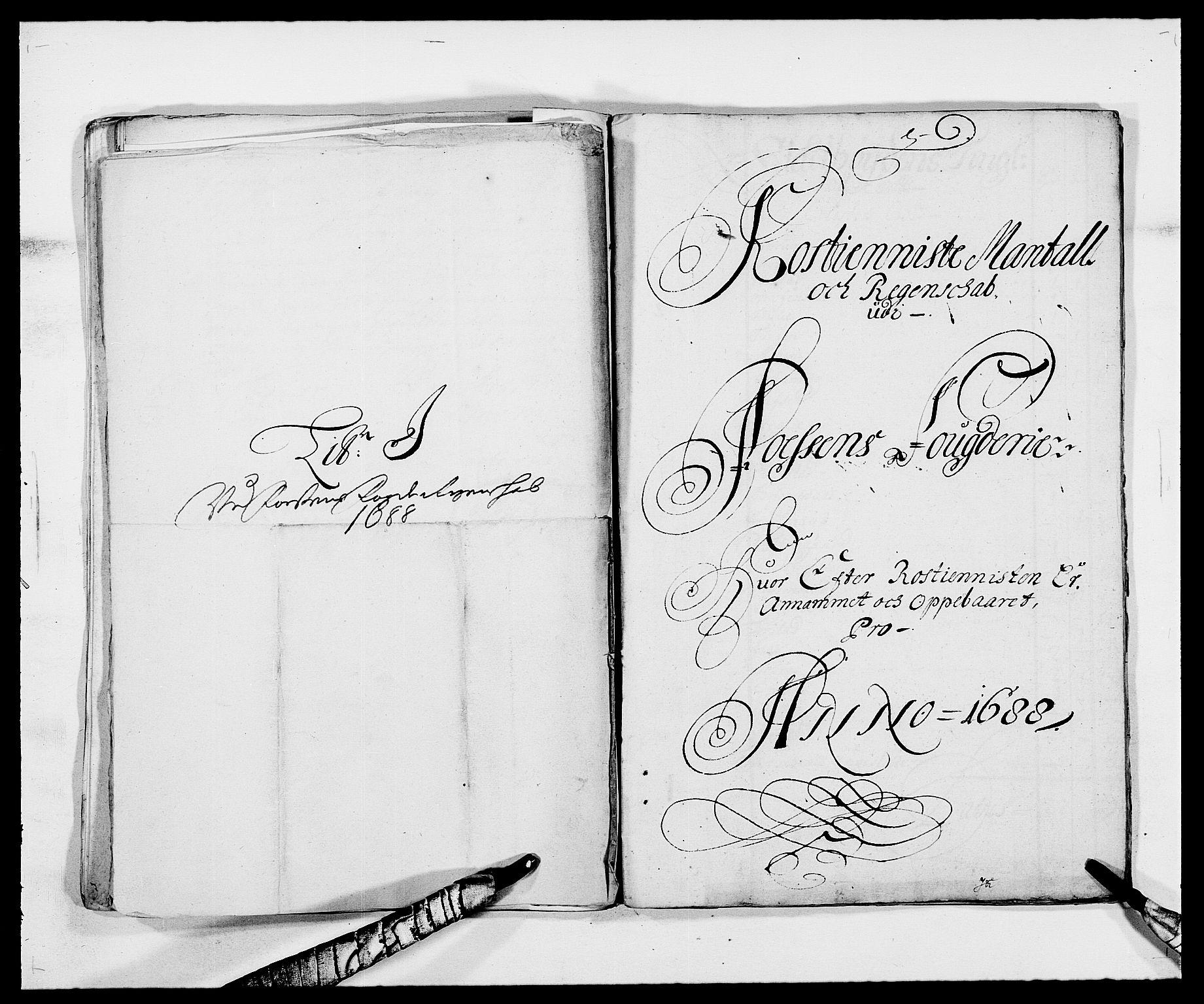 RA, Rentekammeret inntil 1814, Reviderte regnskaper, Fogderegnskap, R57/L3846: Fogderegnskap Fosen, 1688, s. 118