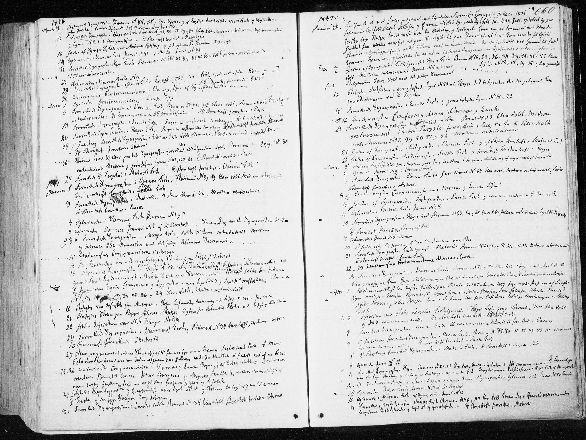 SAT, Ministerialprotokoller, klokkerbøker og fødselsregistre - Nord-Trøndelag, 709/L0074: Ministerialbok nr. 709A14, 1845-1858, s. 660