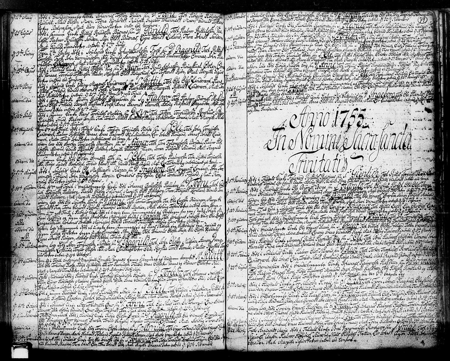 SAKO, Hjartdal kirkebøker, F/Fa/L0003: Ministerialbok nr. I 3, 1727-1775, s. 79