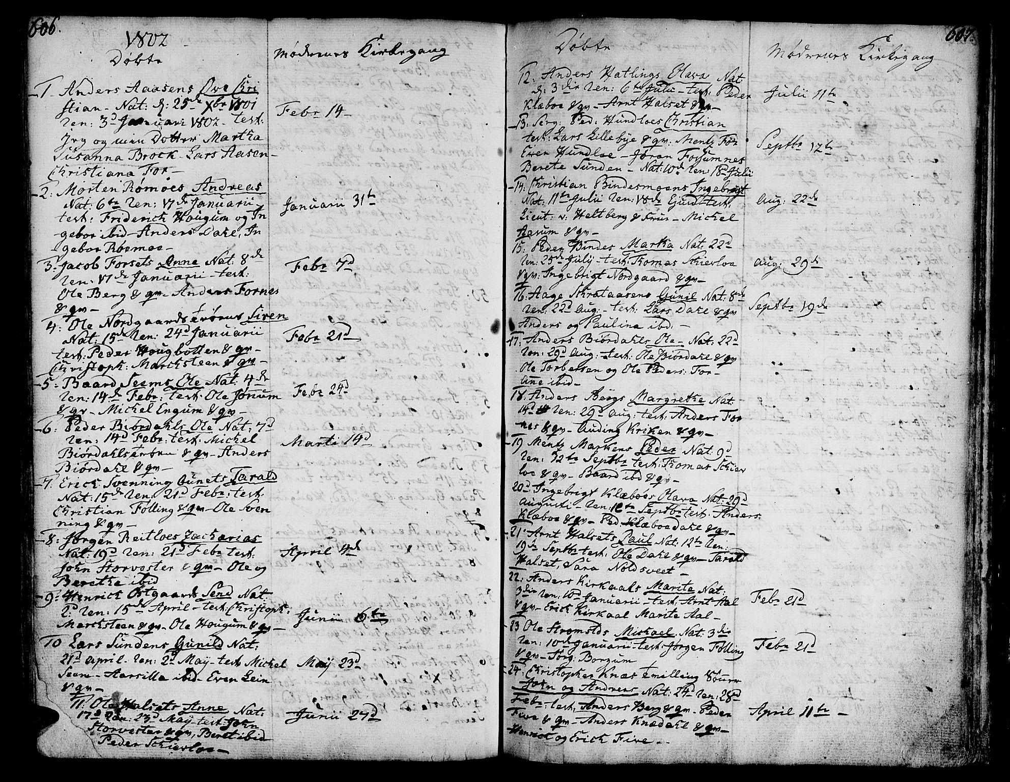 SAT, Ministerialprotokoller, klokkerbøker og fødselsregistre - Nord-Trøndelag, 746/L0440: Ministerialbok nr. 746A02, 1760-1815, s. 606-607
