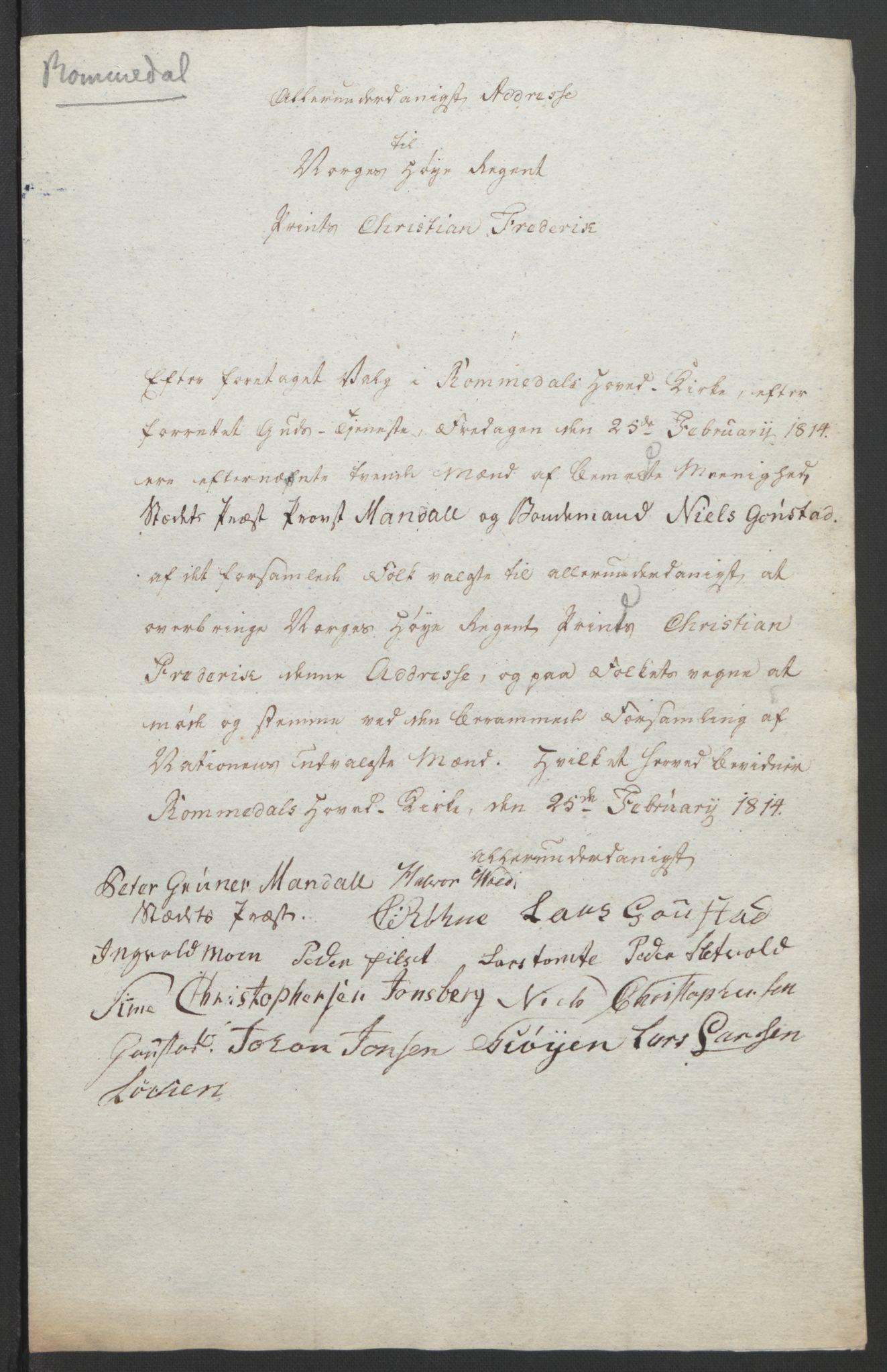 RA, Statsrådssekretariatet, D/Db/L0007: Fullmakter for Eidsvollsrepresentantene i 1814. , 1814, s. 237