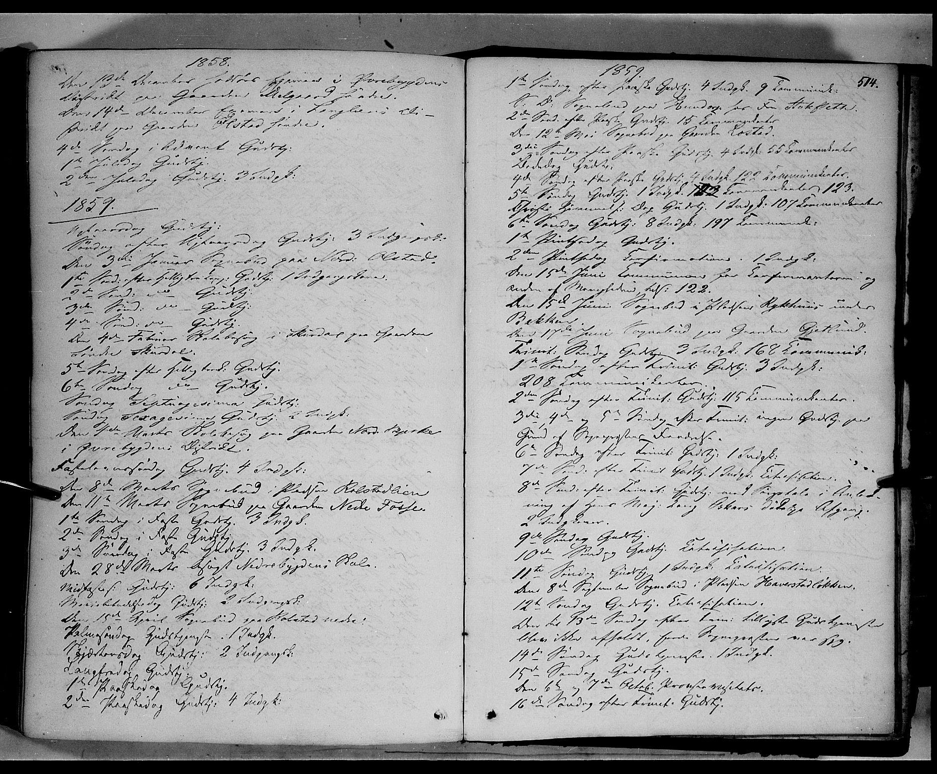 SAH, Sør-Fron prestekontor, H/Ha/Haa/L0001: Ministerialbok nr. 1, 1849-1863, s. 514