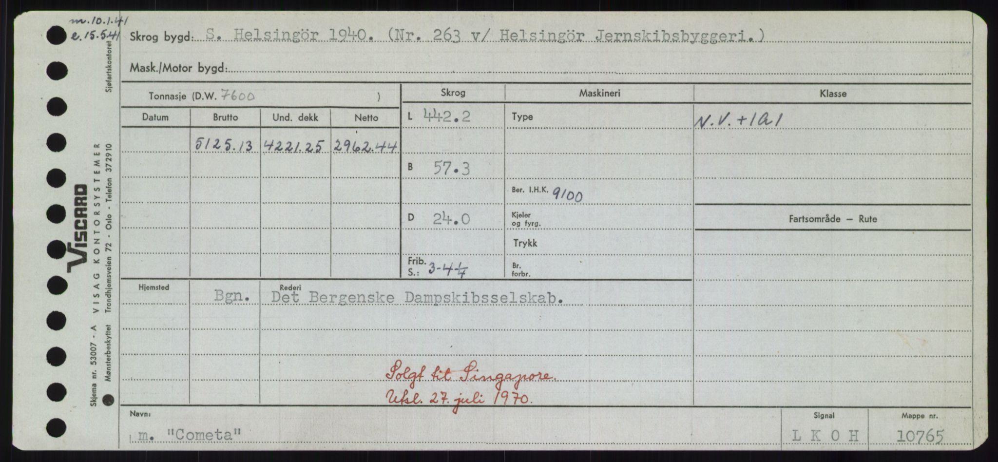 RA, Sjøfartsdirektoratet med forløpere, Skipsmålingen, H/Hd/L0008: Fartøy, C-D, s. 129