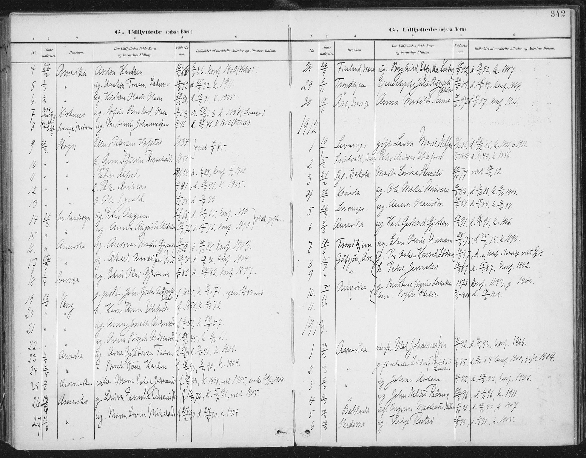 SAT, Ministerialprotokoller, klokkerbøker og fødselsregistre - Nord-Trøndelag, 723/L0246: Ministerialbok nr. 723A15, 1900-1917, s. 342