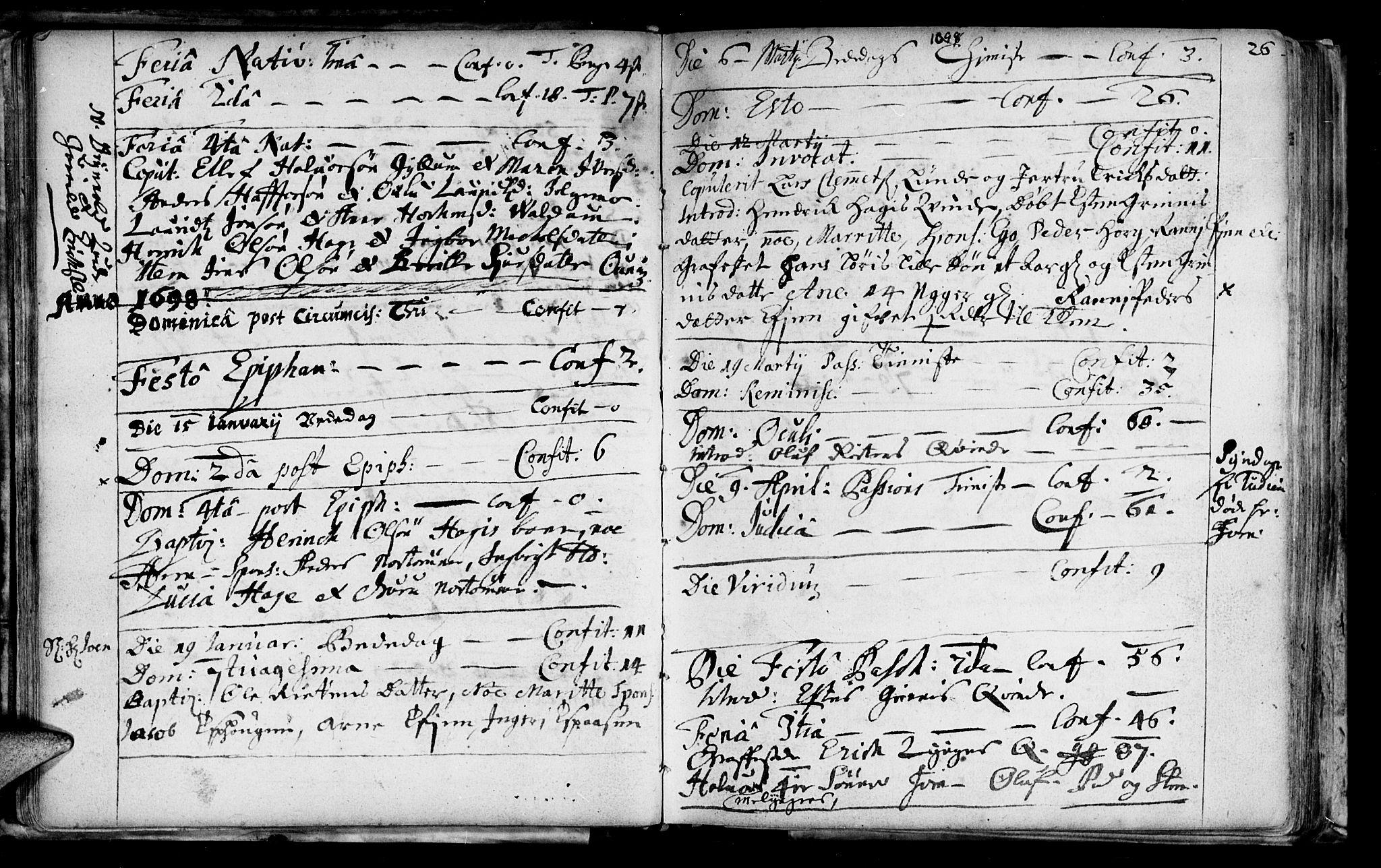 SAT, Ministerialprotokoller, klokkerbøker og fødselsregistre - Sør-Trøndelag, 692/L1101: Ministerialbok nr. 692A01, 1690-1746, s. 26