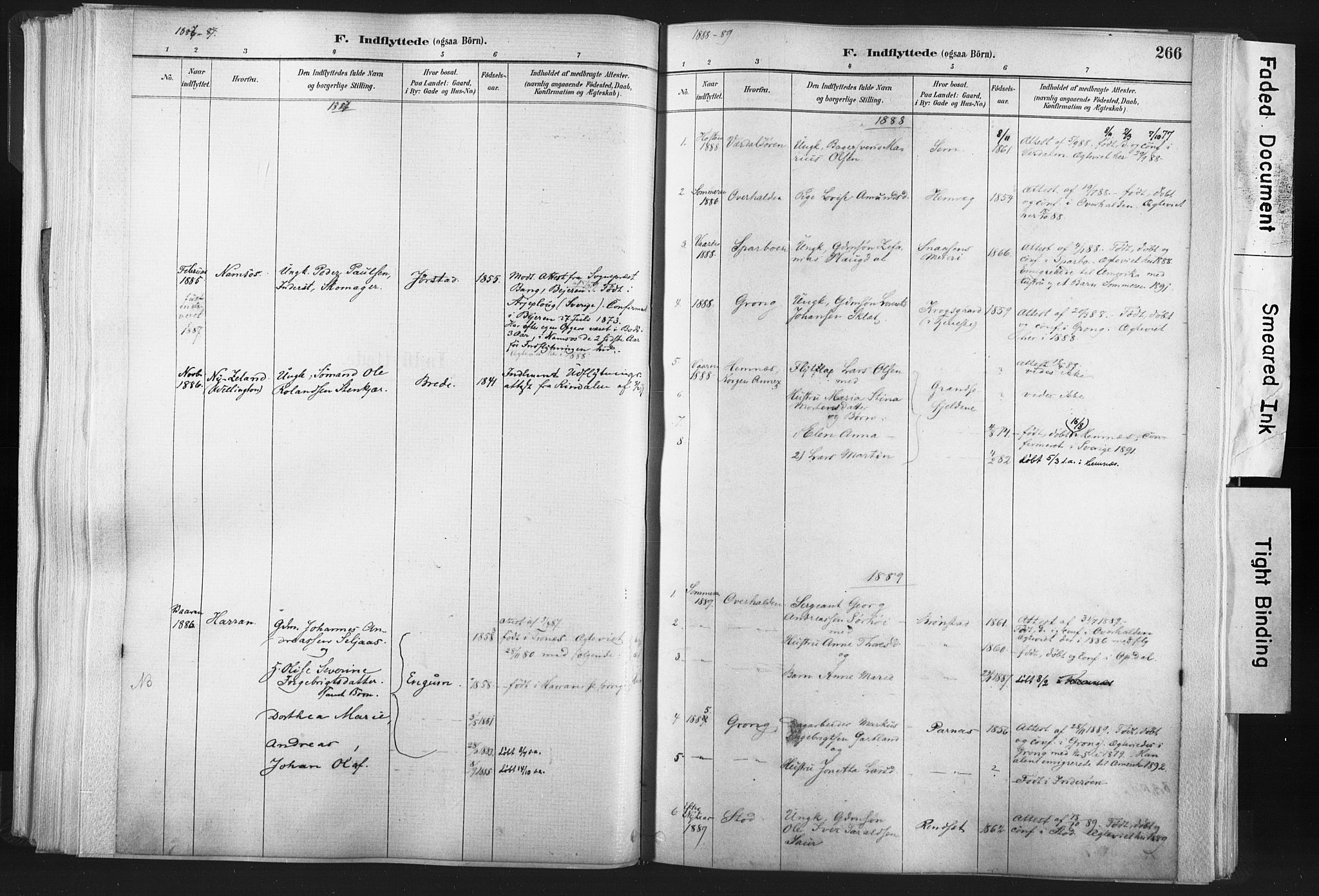 SAT, Ministerialprotokoller, klokkerbøker og fødselsregistre - Nord-Trøndelag, 749/L0474: Ministerialbok nr. 749A08, 1887-1903, s. 266