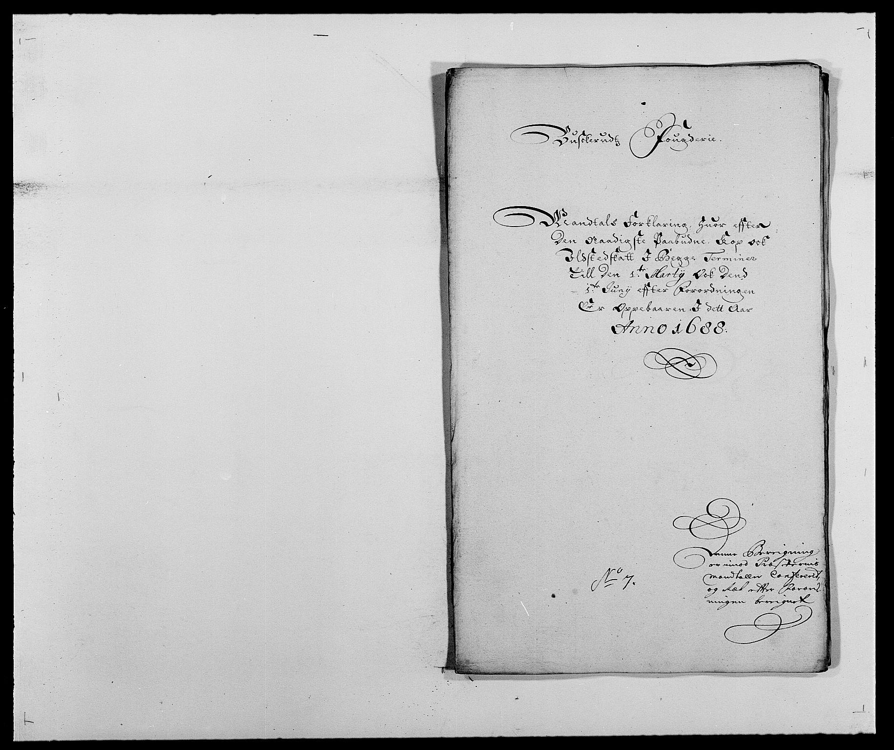 RA, Rentekammeret inntil 1814, Reviderte regnskaper, Fogderegnskap, R25/L1679: Fogderegnskap Buskerud, 1687-1688, s. 462