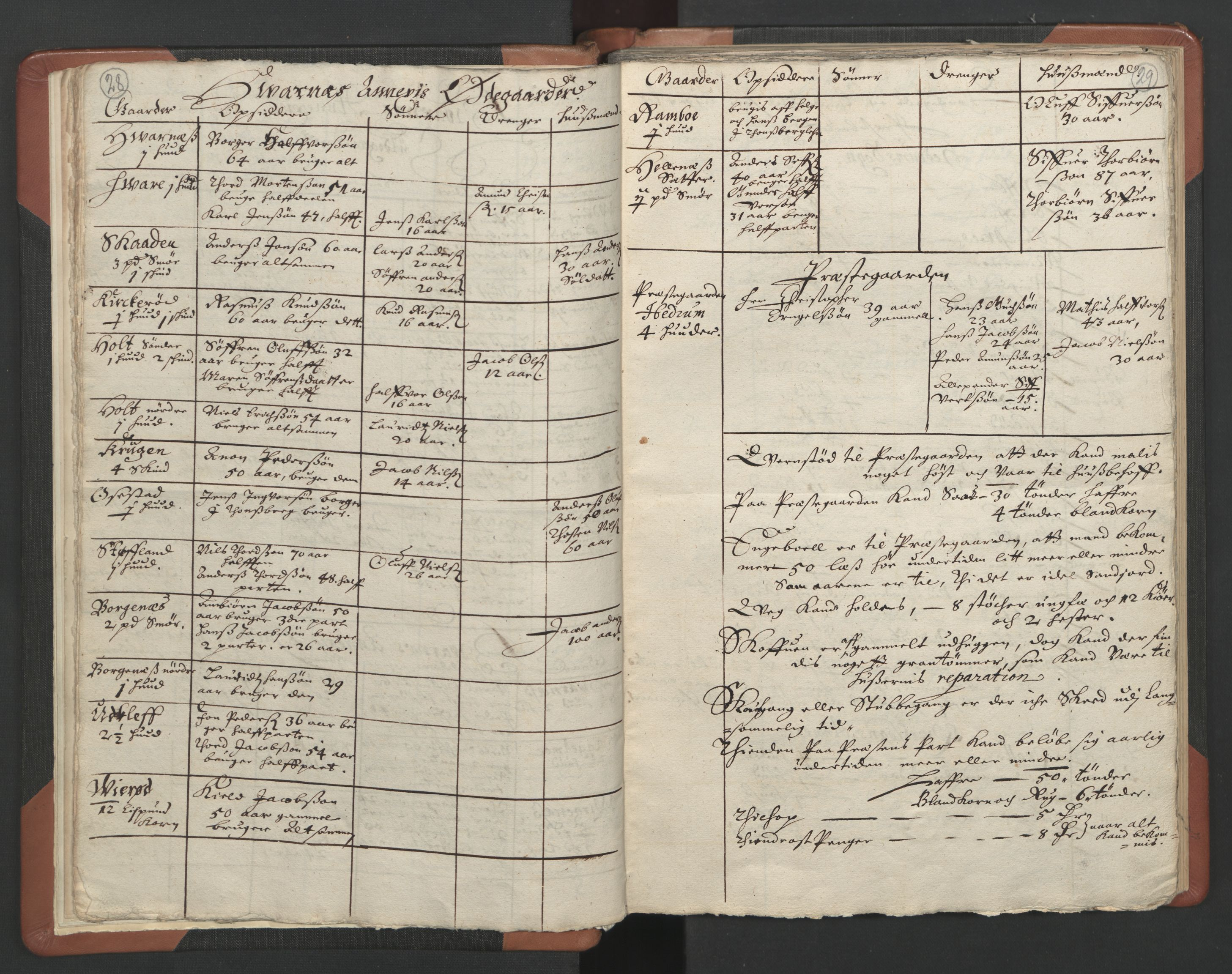 RA, Sogneprestenes manntall 1664-1666, nr. 11: Brunlanes prosti, 1664-1666, s. 28-29