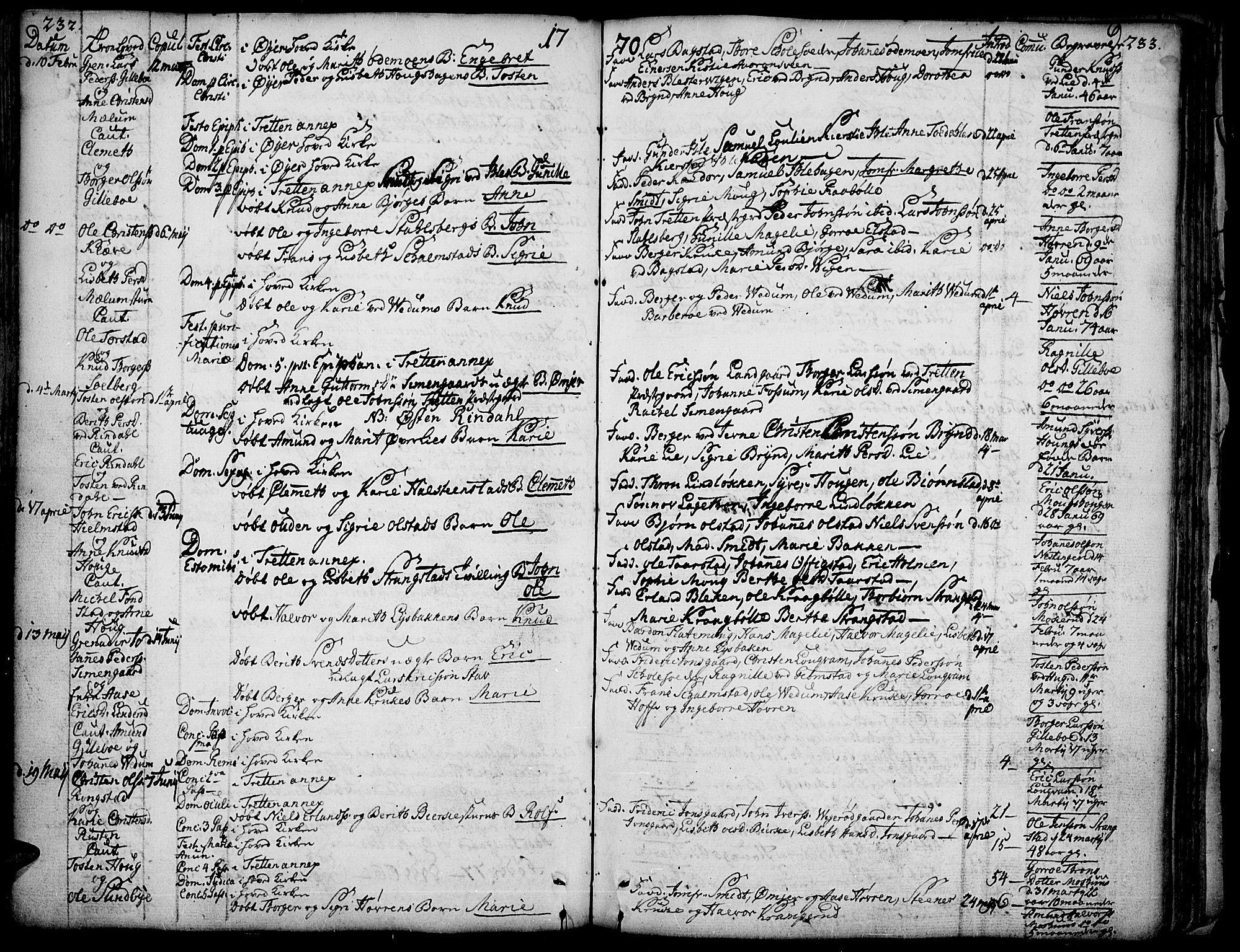 SAH, Øyer prestekontor, Ministerialbok nr. 2, 1733-1784, s. 232-233