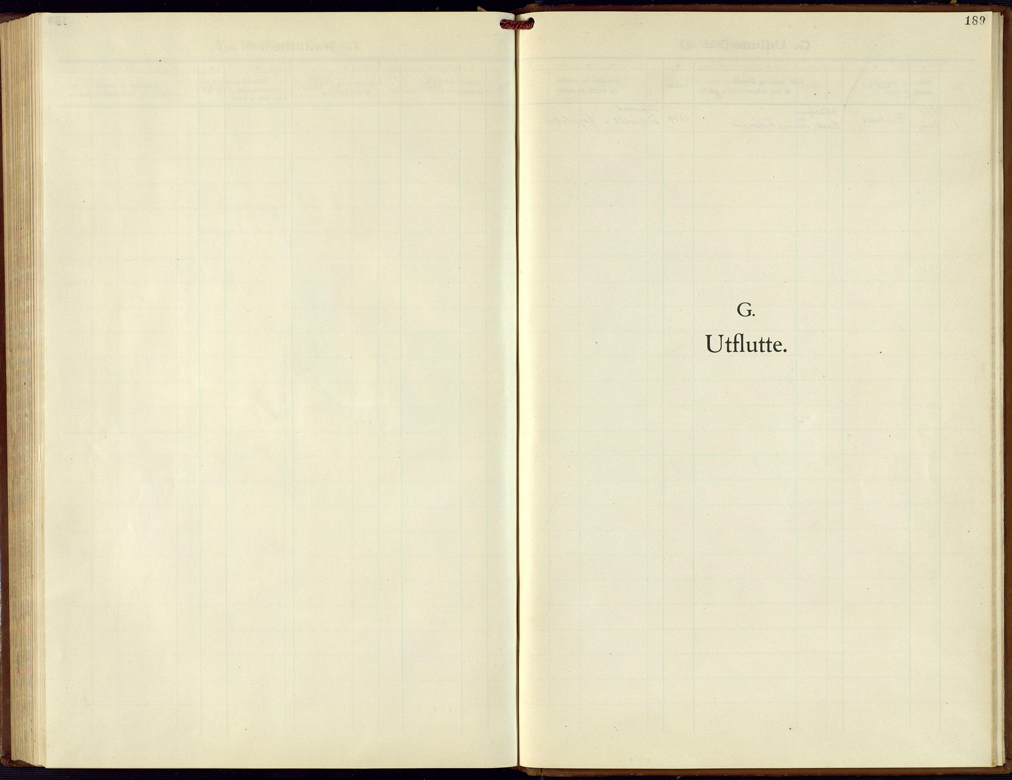 SAK, Hægebostad sokneprestkontor, F/Fb/Fba/L0006: Klokkerbok nr. B 6, 1931-1970, s. 189