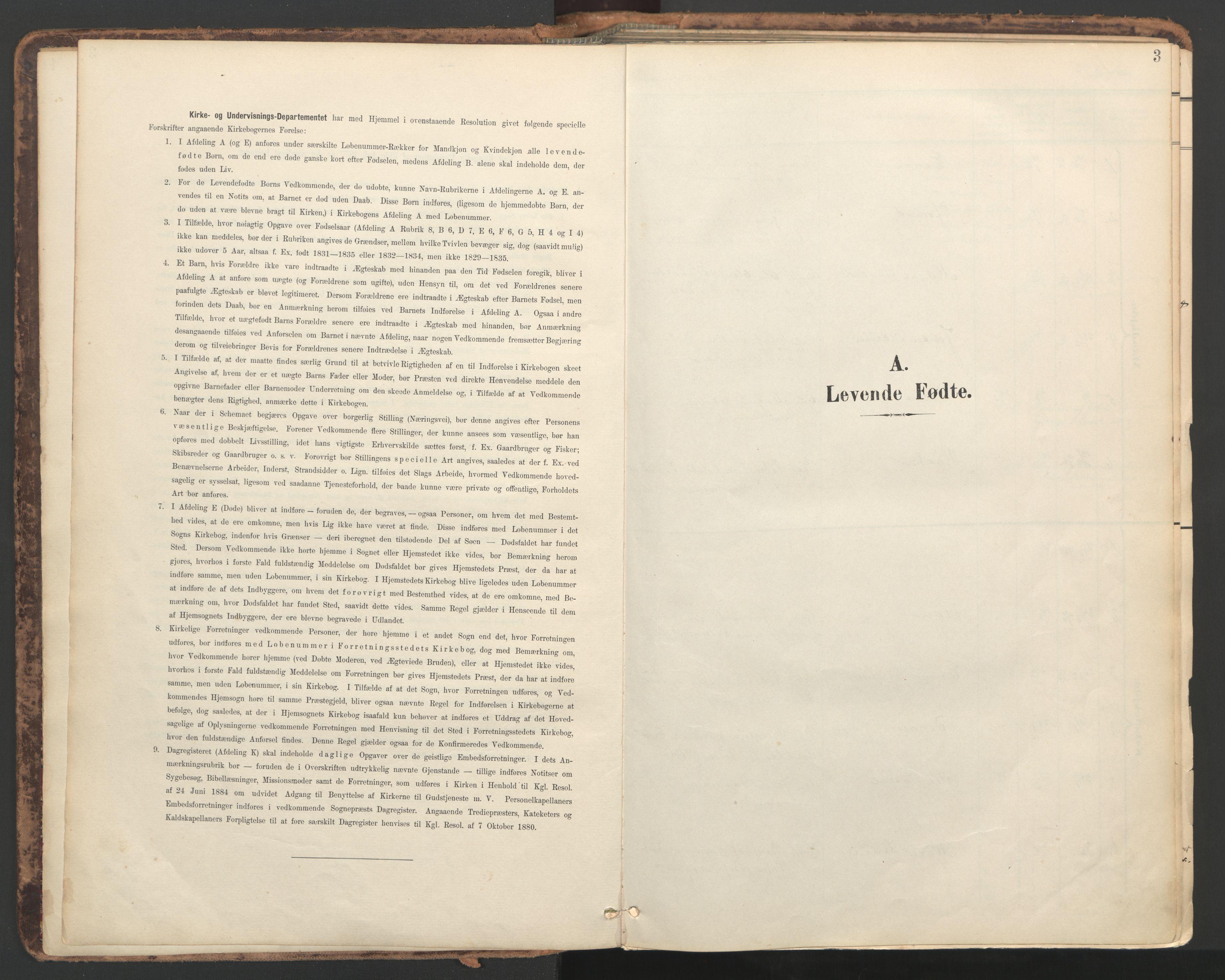 SAT, Ministerialprotokoller, klokkerbøker og fødselsregistre - Nord-Trøndelag, 764/L0556: Ministerialbok nr. 764A11, 1897-1924, s. 3