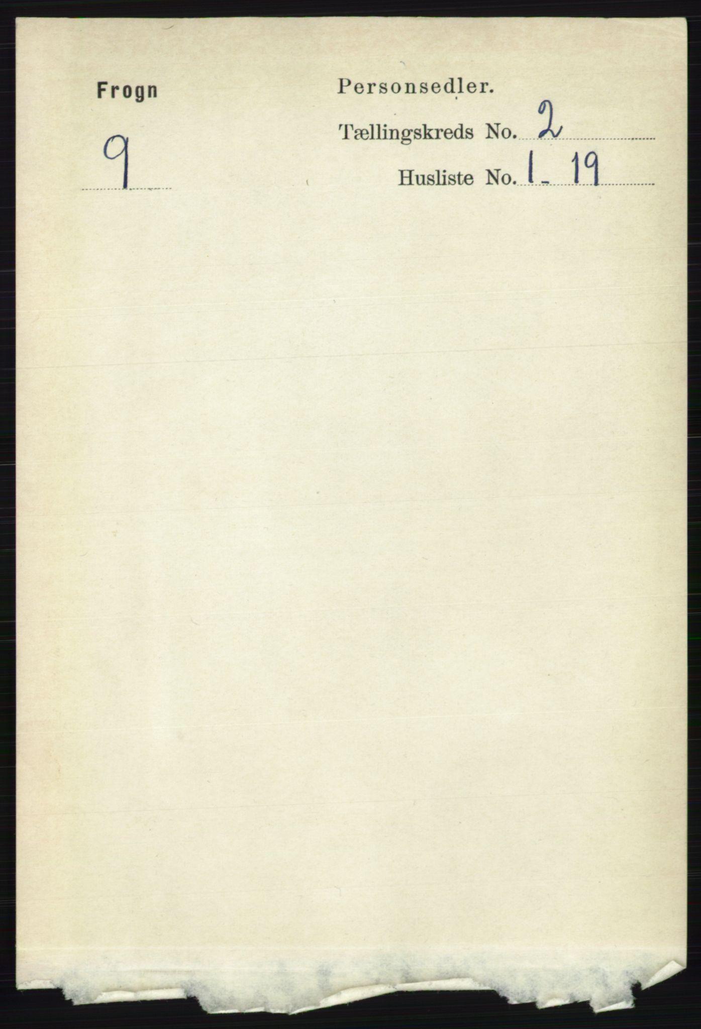 RA, Folketelling 1891 for 0215 Frogn herred, 1891, s. 1268
