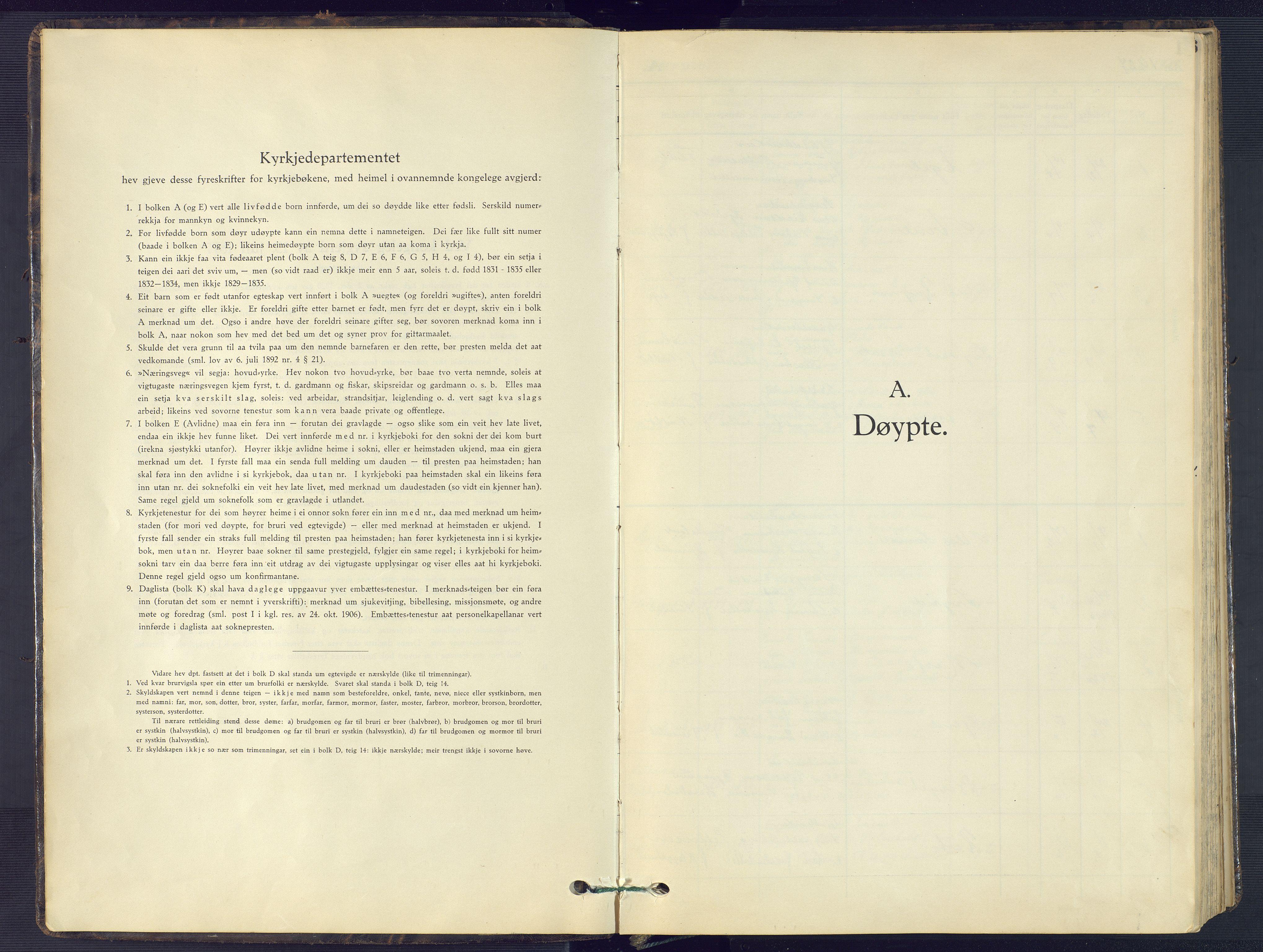 SAK, Evje sokneprestkontor, F/Fb/Fba/L0006: Klokkerbok nr. B 6, 1927-1956