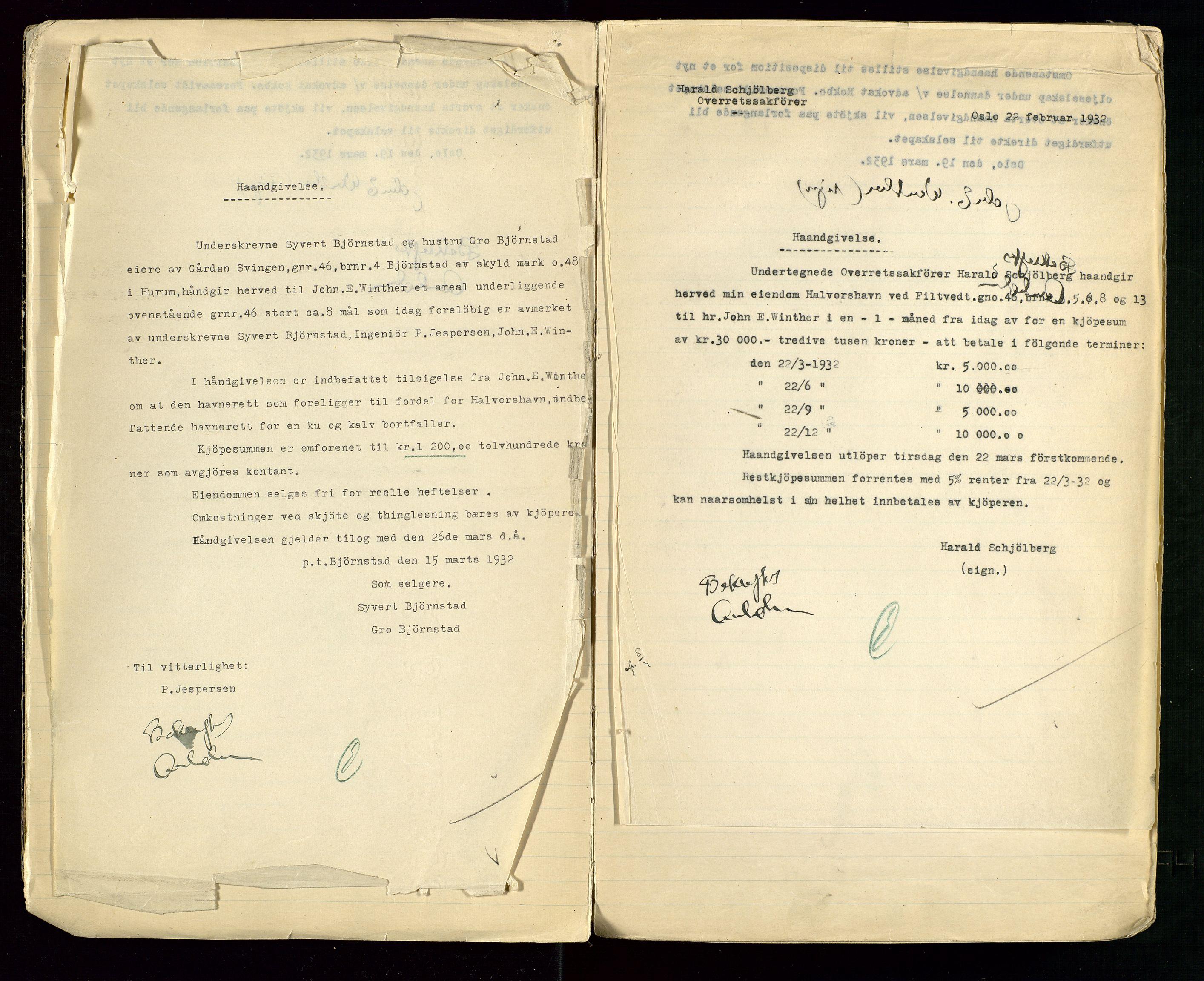 SAST, PA 1514 - Sporveienes Bensindepot, Norsk Oljeraffineri A/S, A/L0001: Styreprotokoll. Forhandlingsprotokoll Arbeidsutvaget, 1932-1949, s. 7
