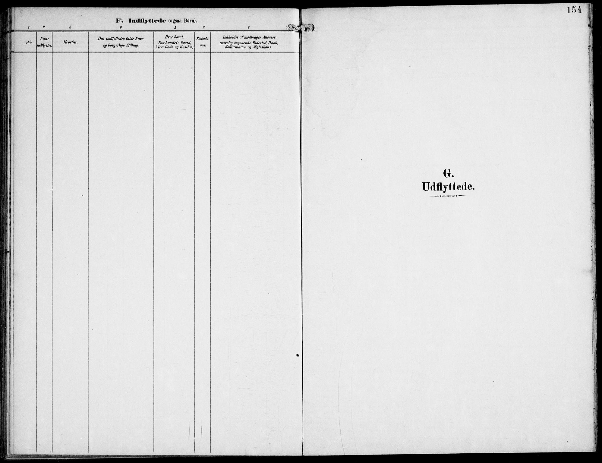 SAT, Ministerialprotokoller, klokkerbøker og fødselsregistre - Nord-Trøndelag, 745/L0430: Ministerialbok nr. 745A02, 1895-1913, s. 154