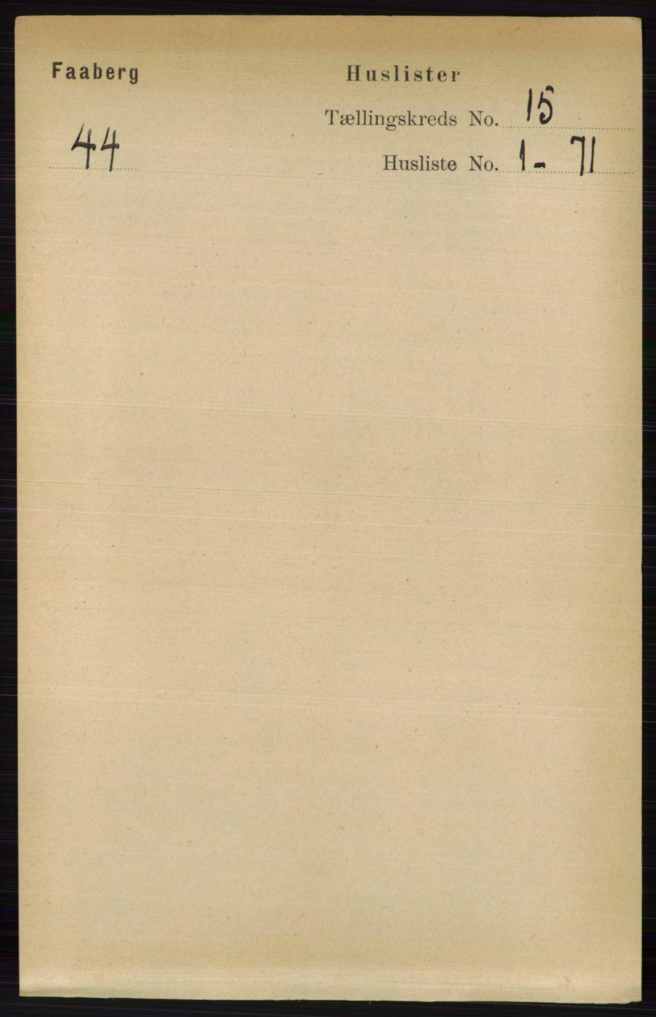 RA, Folketelling 1891 for 0524 Fåberg herred, 1891, s. 5831