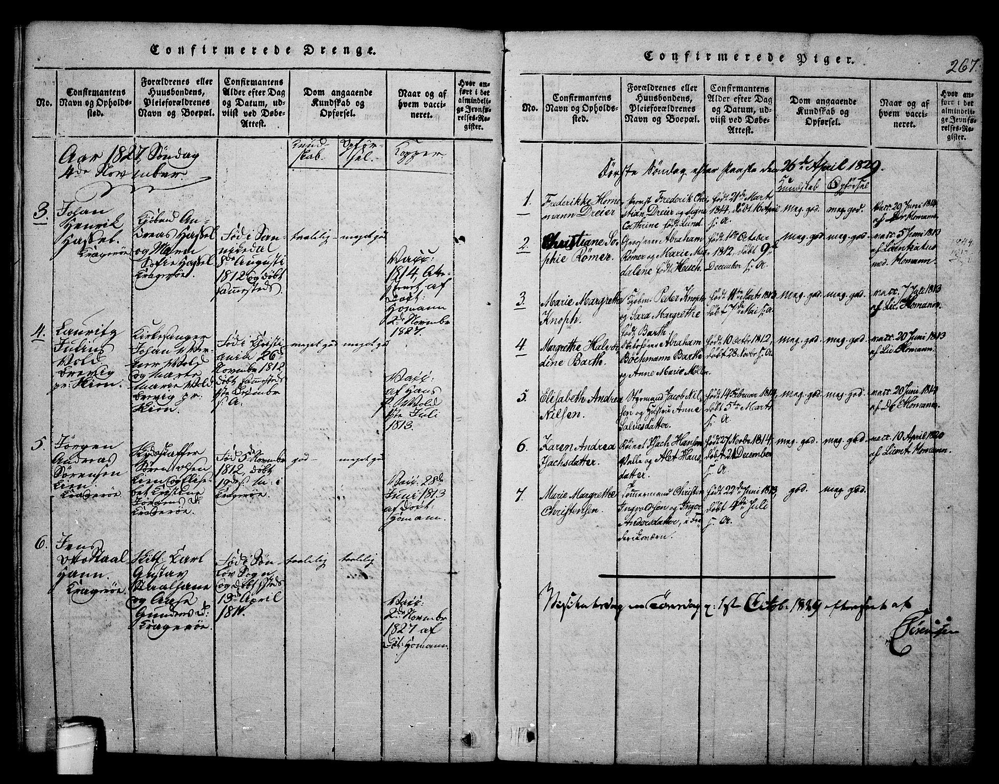 SAKO, Kragerø kirkebøker, F/Fa/L0004: Ministerialbok nr. 4, 1814-1831, s. 267