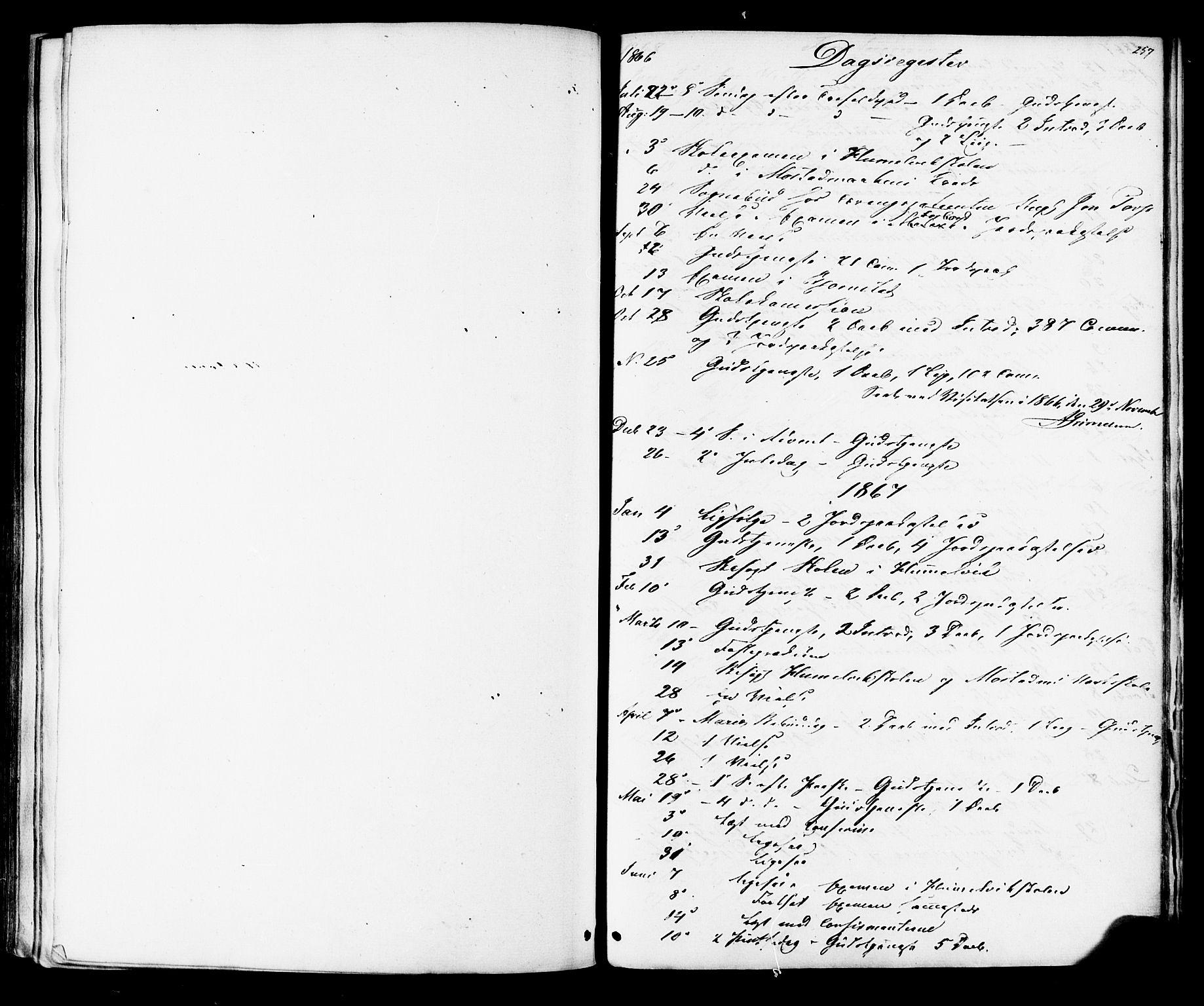 SAT, Ministerialprotokoller, klokkerbøker og fødselsregistre - Sør-Trøndelag, 616/L0409: Ministerialbok nr. 616A06, 1865-1877, s. 257