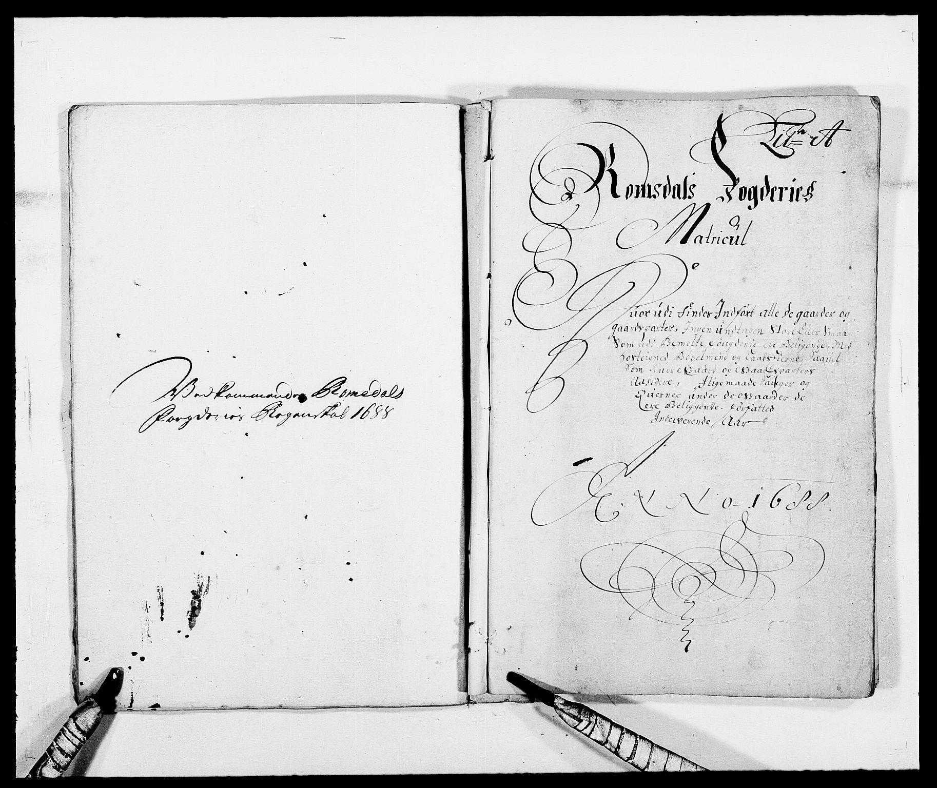 RA, Rentekammeret inntil 1814, Reviderte regnskaper, Fogderegnskap, R55/L3648: Fogderegnskap Romsdal, 1687-1689, s. 164